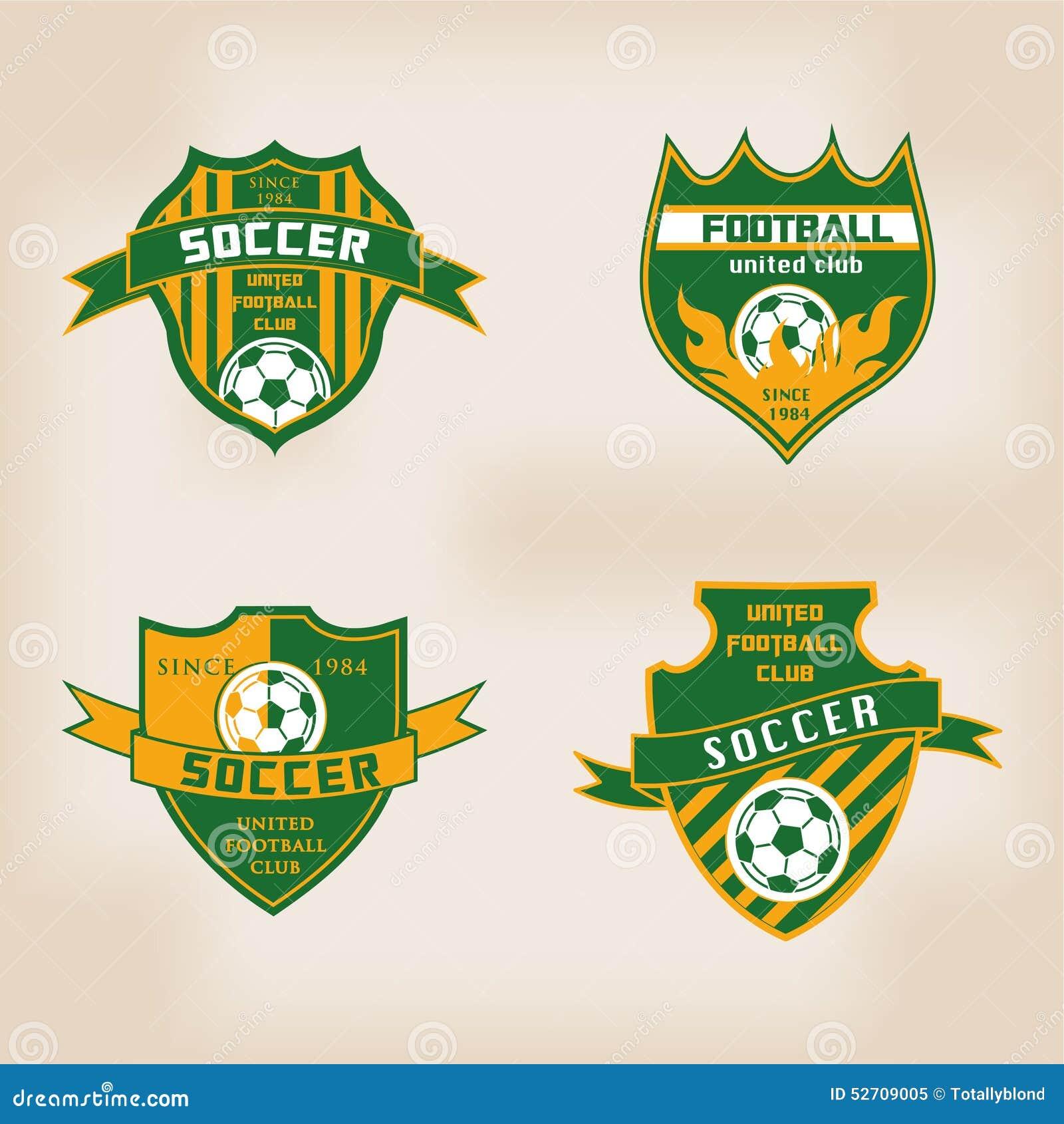 Set Of Soccer Football Badge Logo Design Stock Vector - Image ...