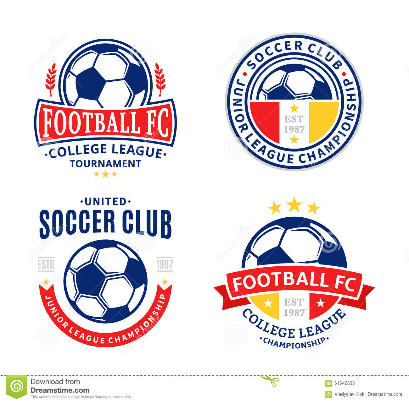 Set of soccer football club logo stock vector illustration of download comp maxwellsz