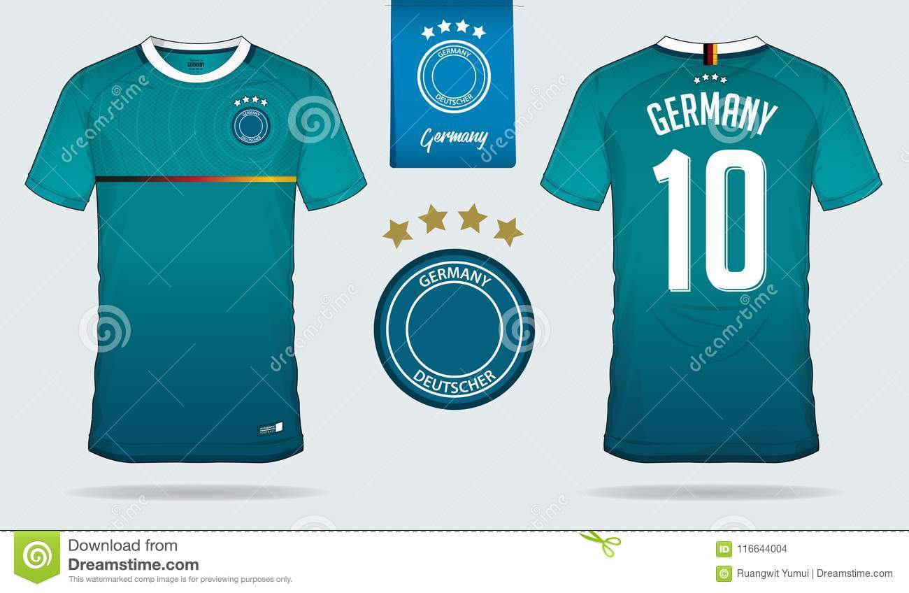 982f27c19 Royalty-Free Vector. Set of soccer jersey or football kit template design  for Germany national football team.