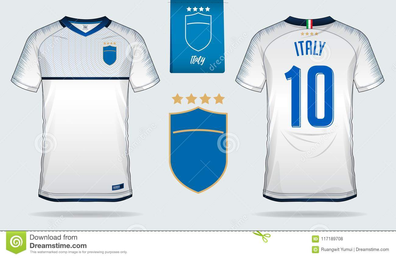 hot sale online d136b 56b6e Soccer Jersey Or Football Kit Template Design For Italy ...