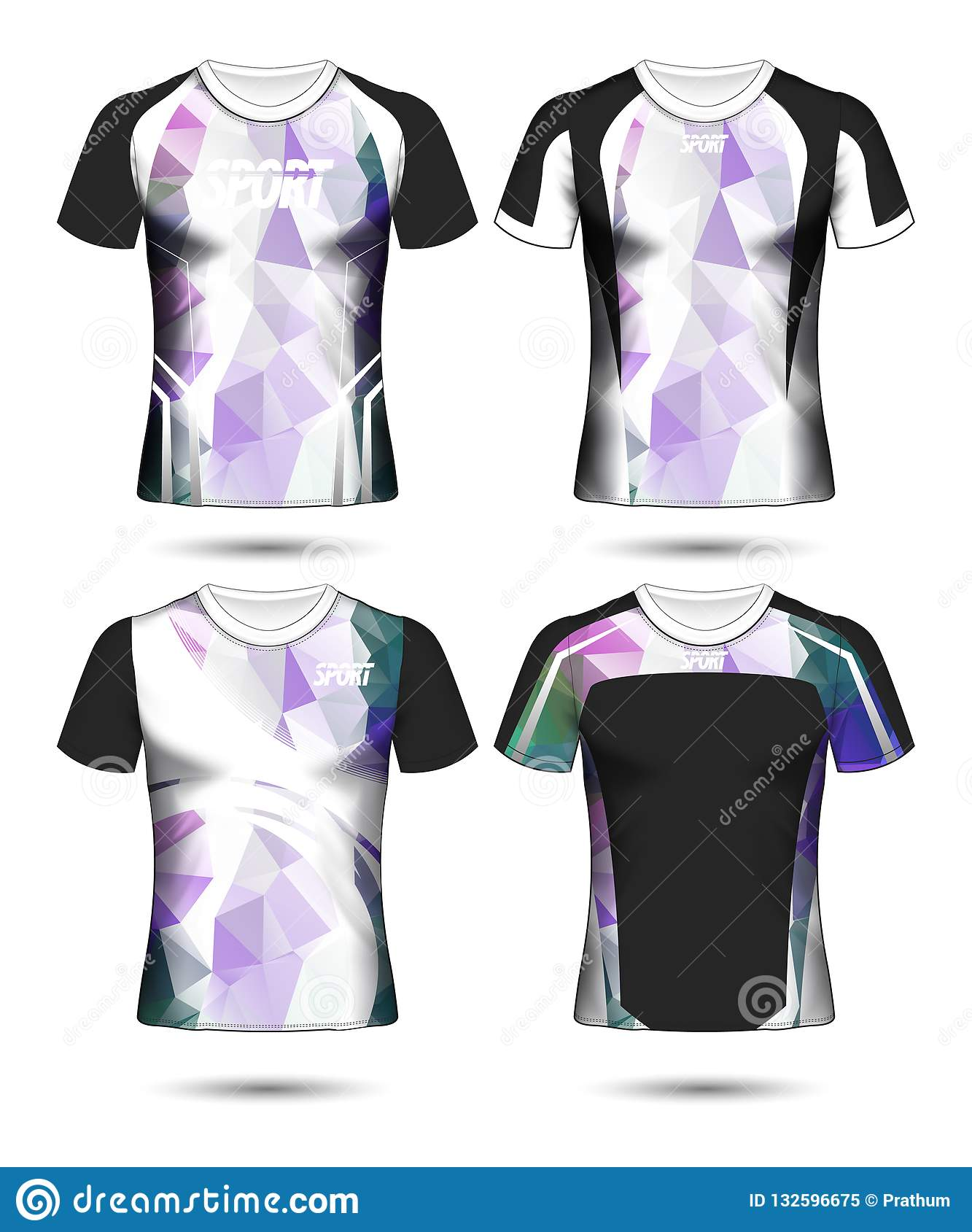 1bc1beaf8 Set of Soccer sport t-shirt layout design poly template and polo shirt  vector illustration