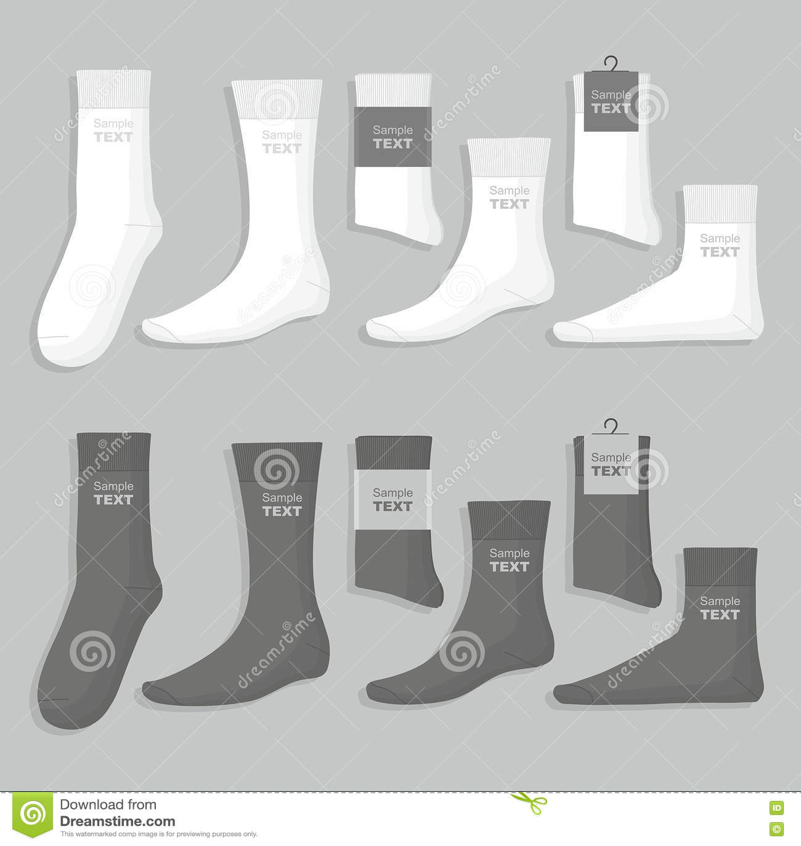 Set of socks stock vector illustration of sock black 79113430 download comp maxwellsz