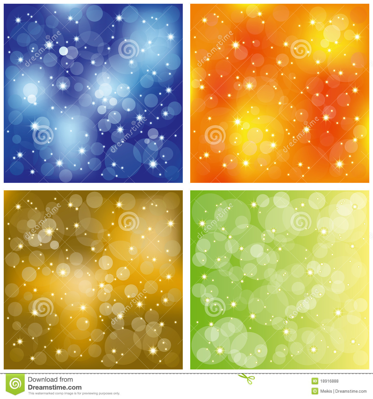 set of sparkling colorful stardust wallpaper stock vector