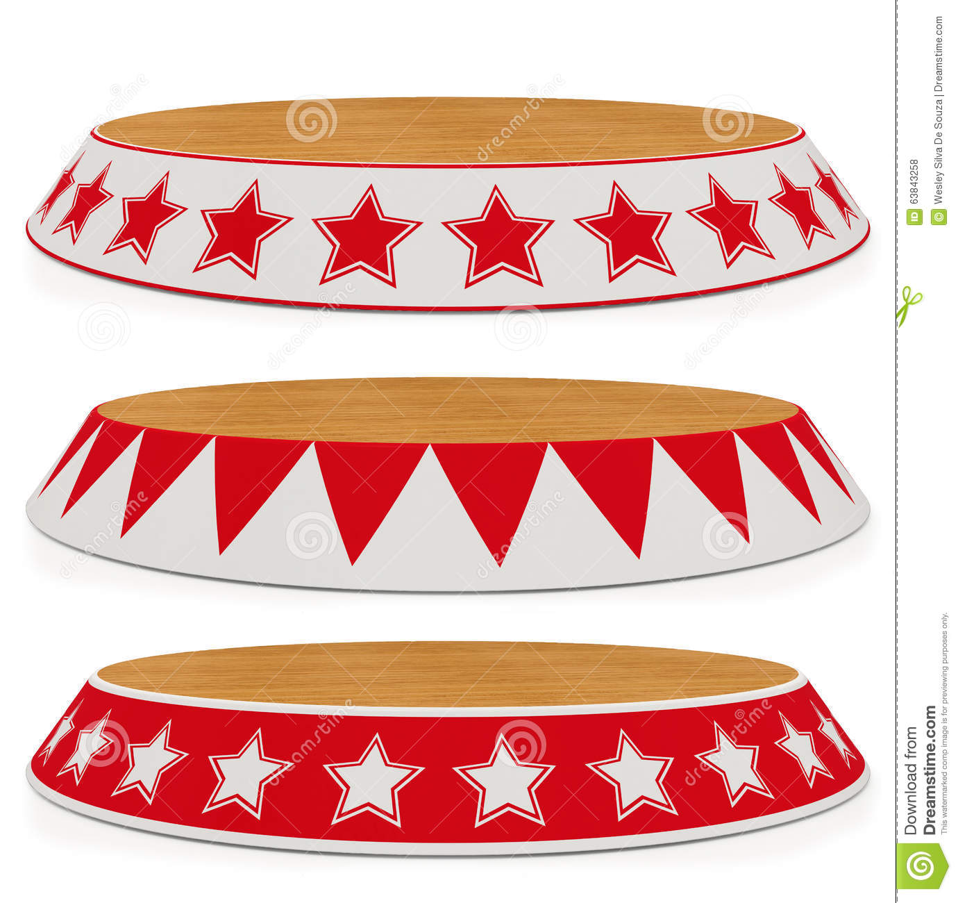 Set Stage Circus - Ring (path Save) Stock Illustration - Image ...