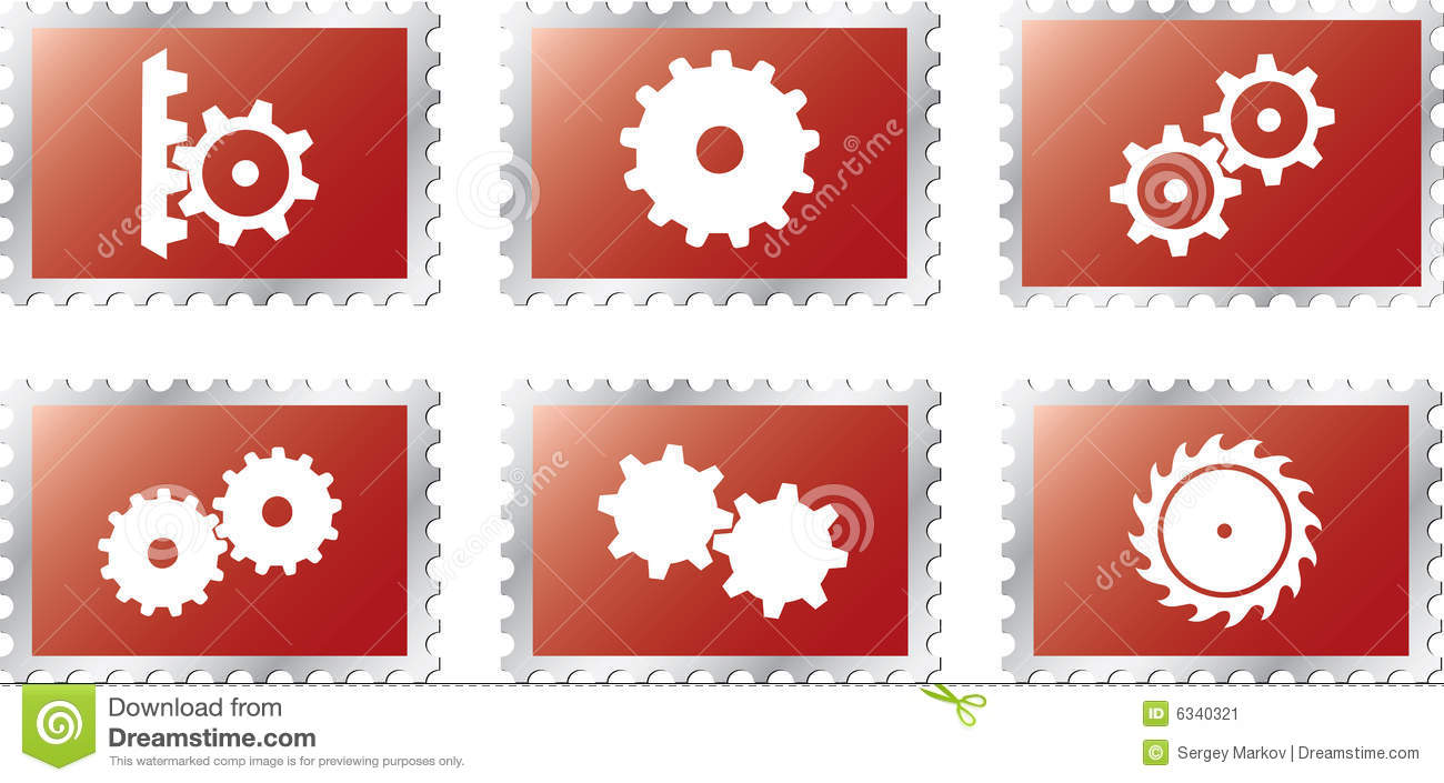 Set stamps2 - 18. Gears