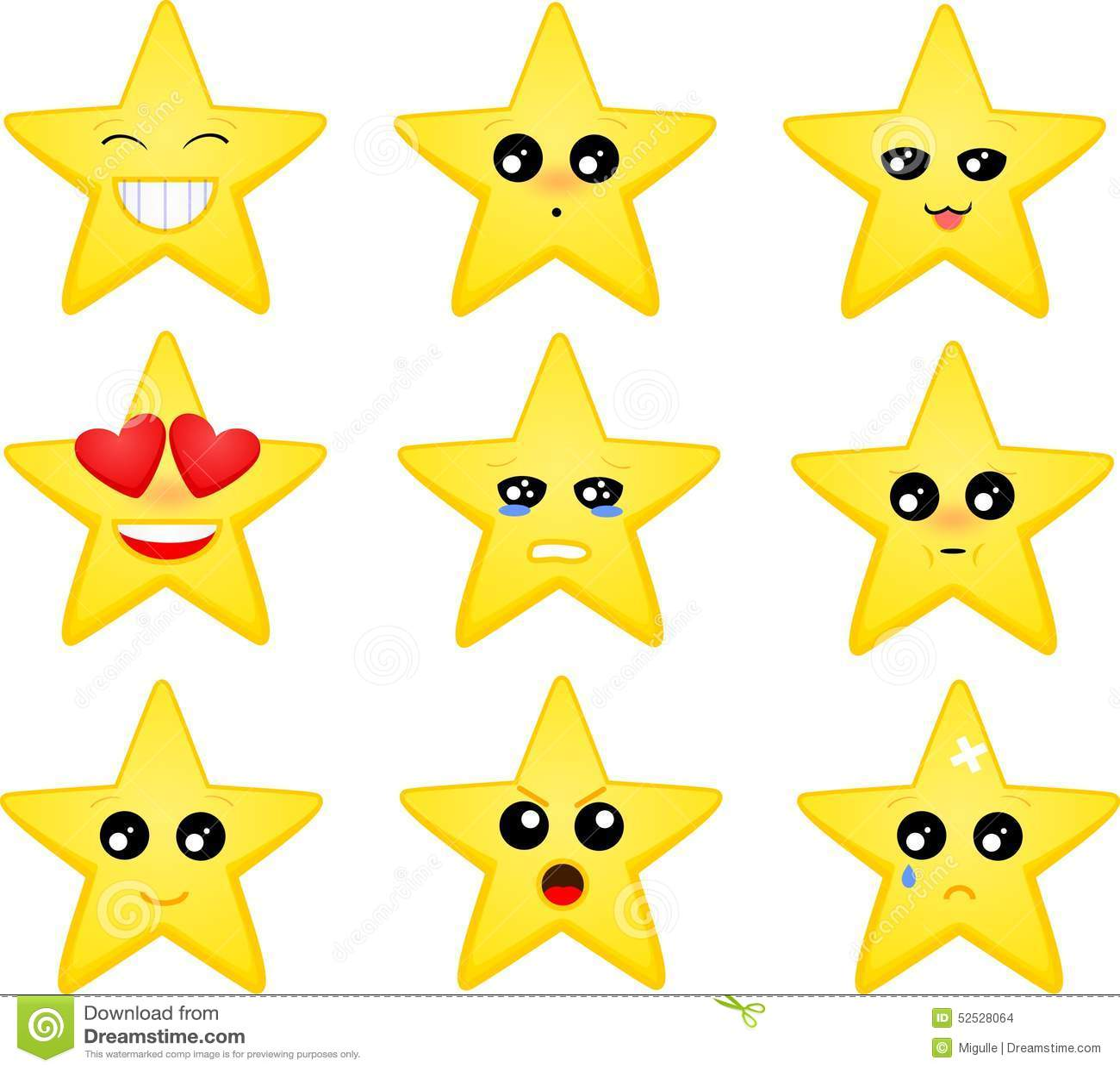 Stock Illustration Set Star Emoticons Vector Cartoon Image52528064 on Children Christmas Clipart
