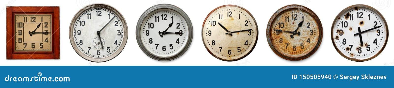 Set starzy ścienni zegary