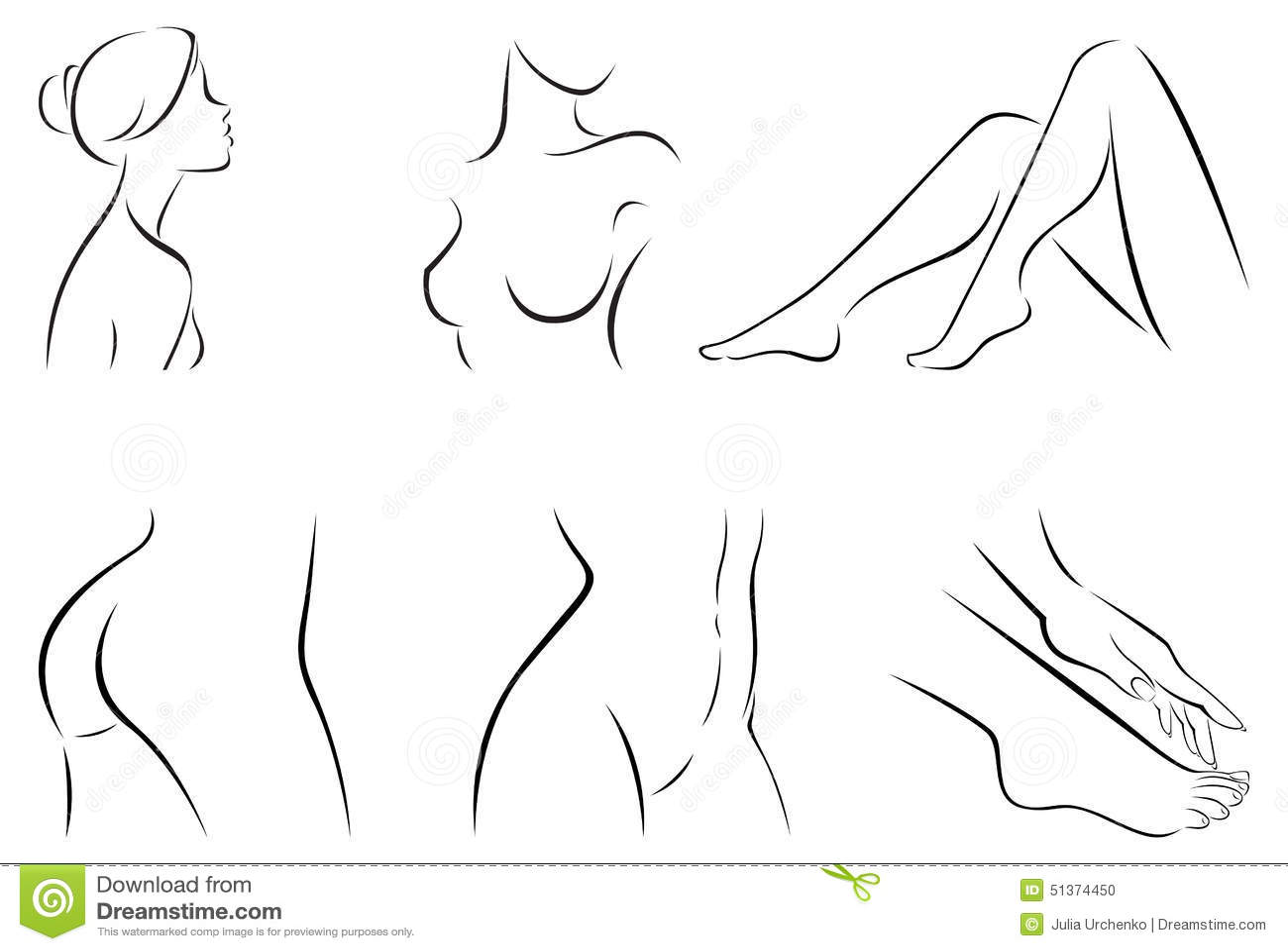 Set Stilisierte Körperteile Vektor Abbildung - Illustration von ...