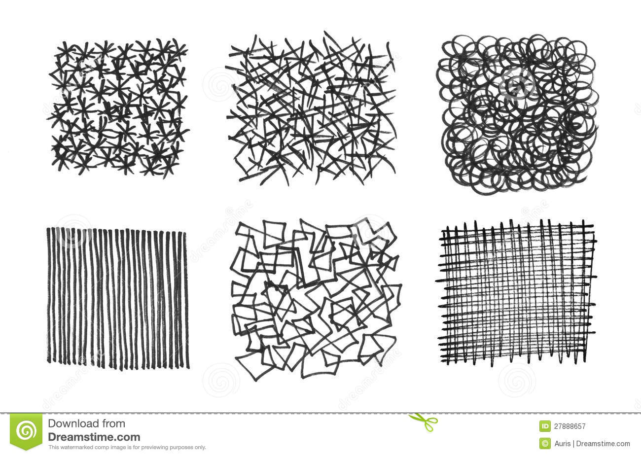 Set Of Stroked Textures Royalty Free Stock Photography ...