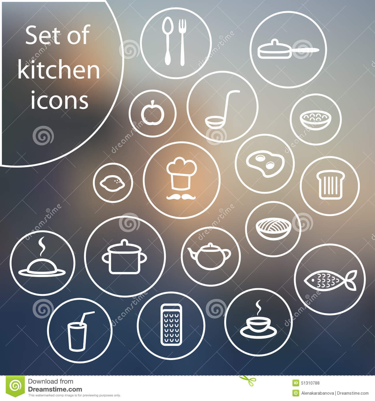 Bread icon in simple style cartoon vector cartoondealer for Simple kitchen set