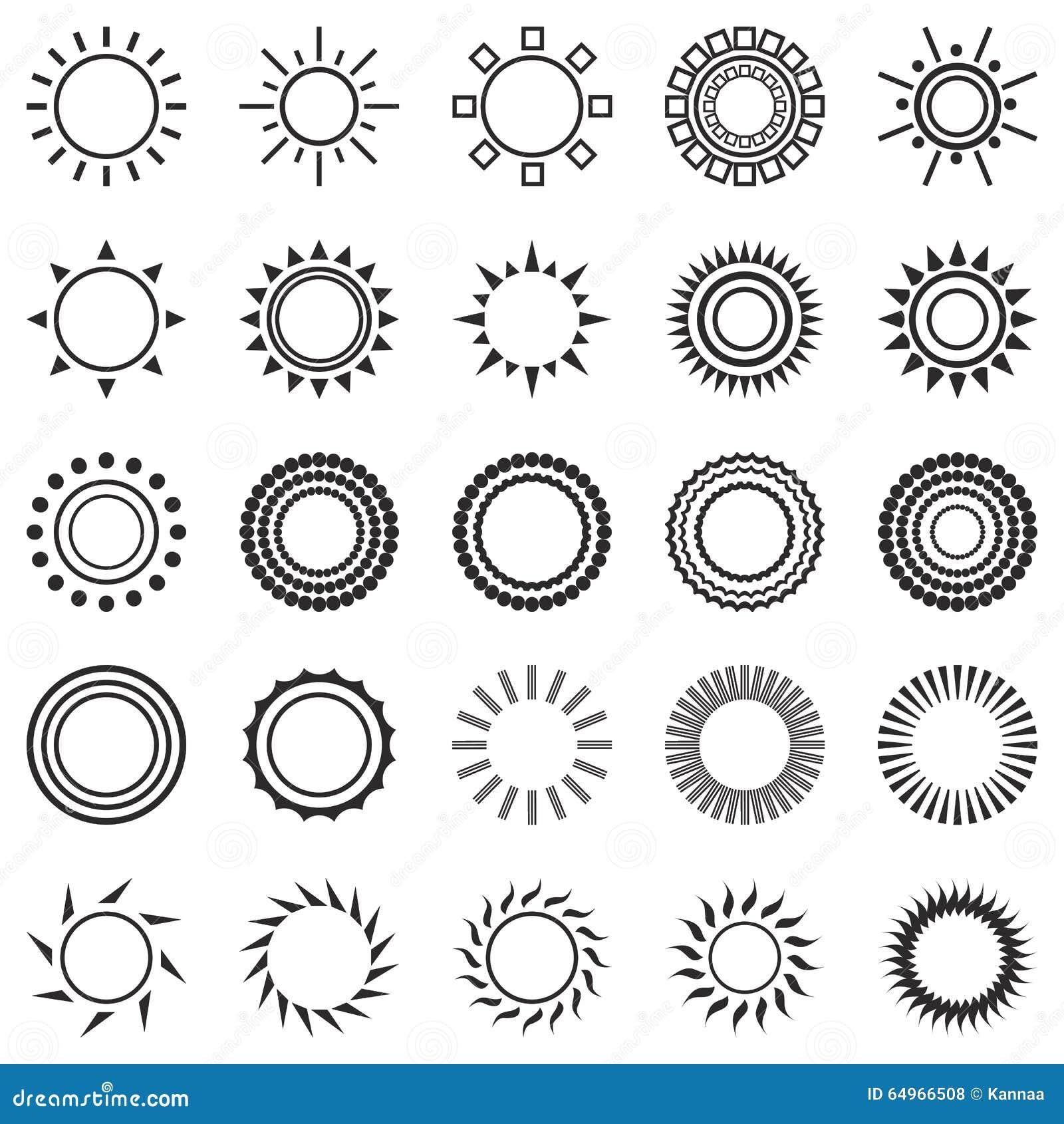 Set of sun icons on white background stock vector illustration set of sun icons on white background buycottarizona