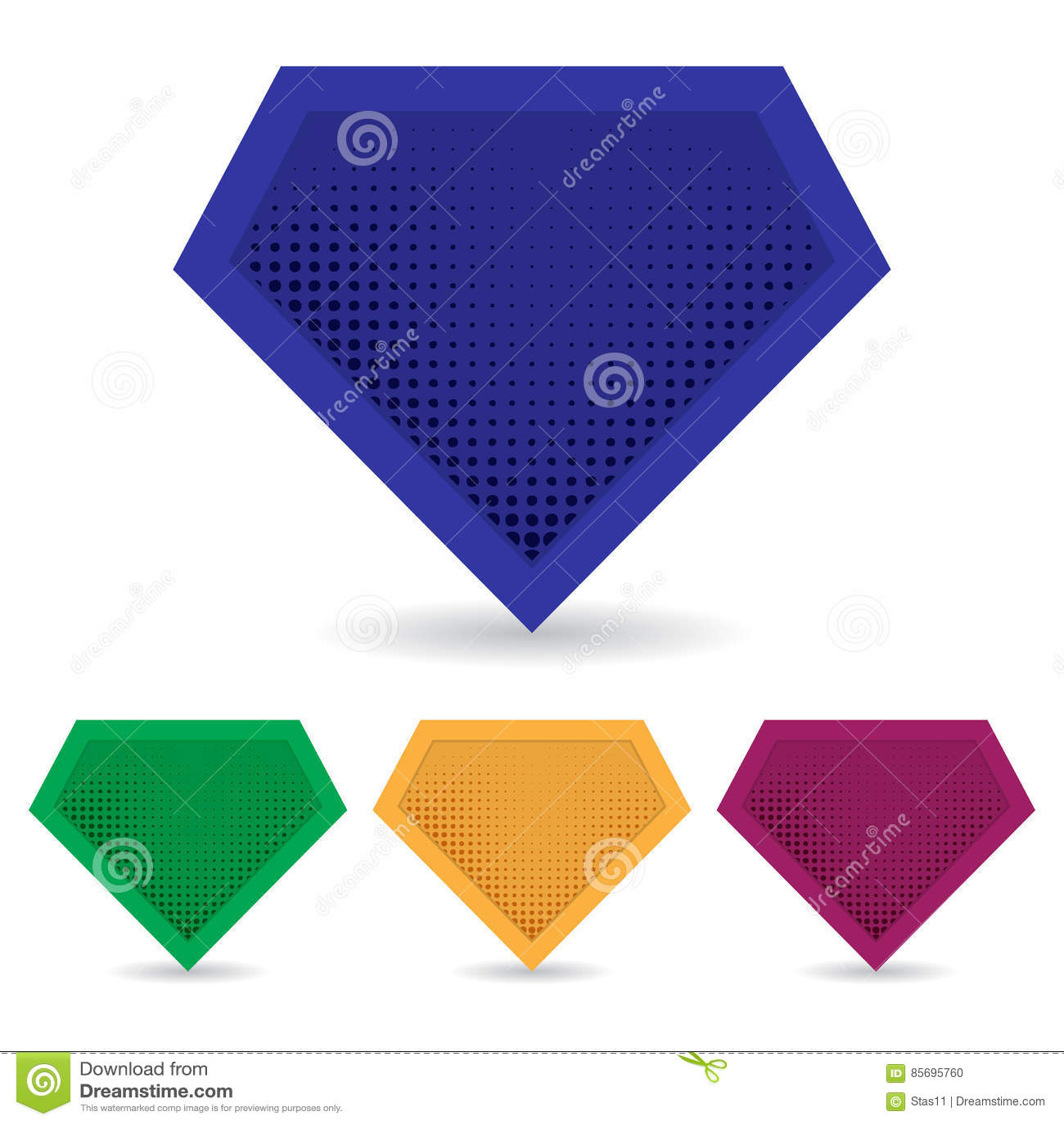 set of superhero logo template vector isolated eps10 editorial