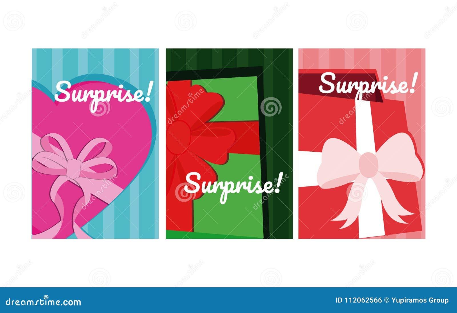 Set of suprise cards