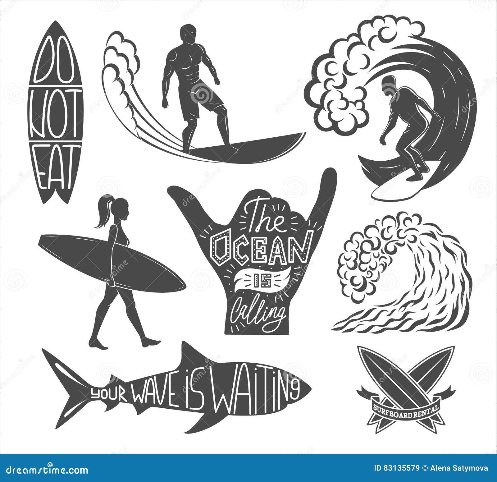 Free Design Clipart Surfer