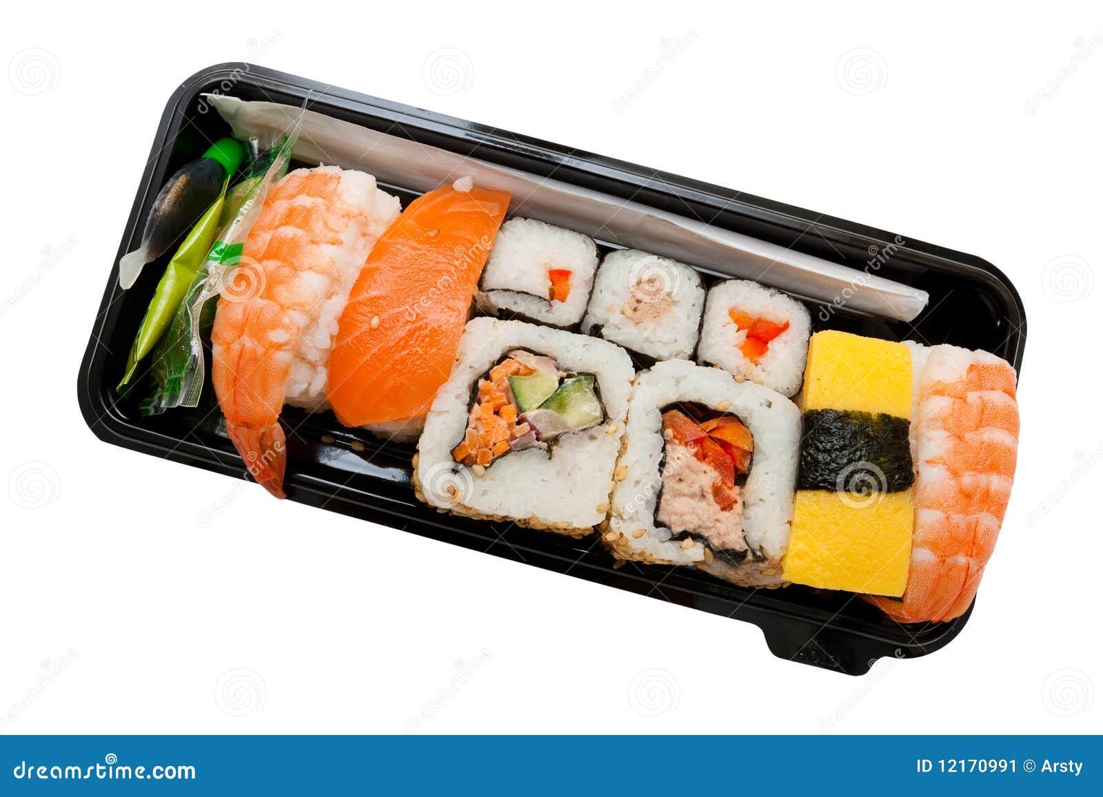 set of sushi stock image image 12170991. Black Bedroom Furniture Sets. Home Design Ideas