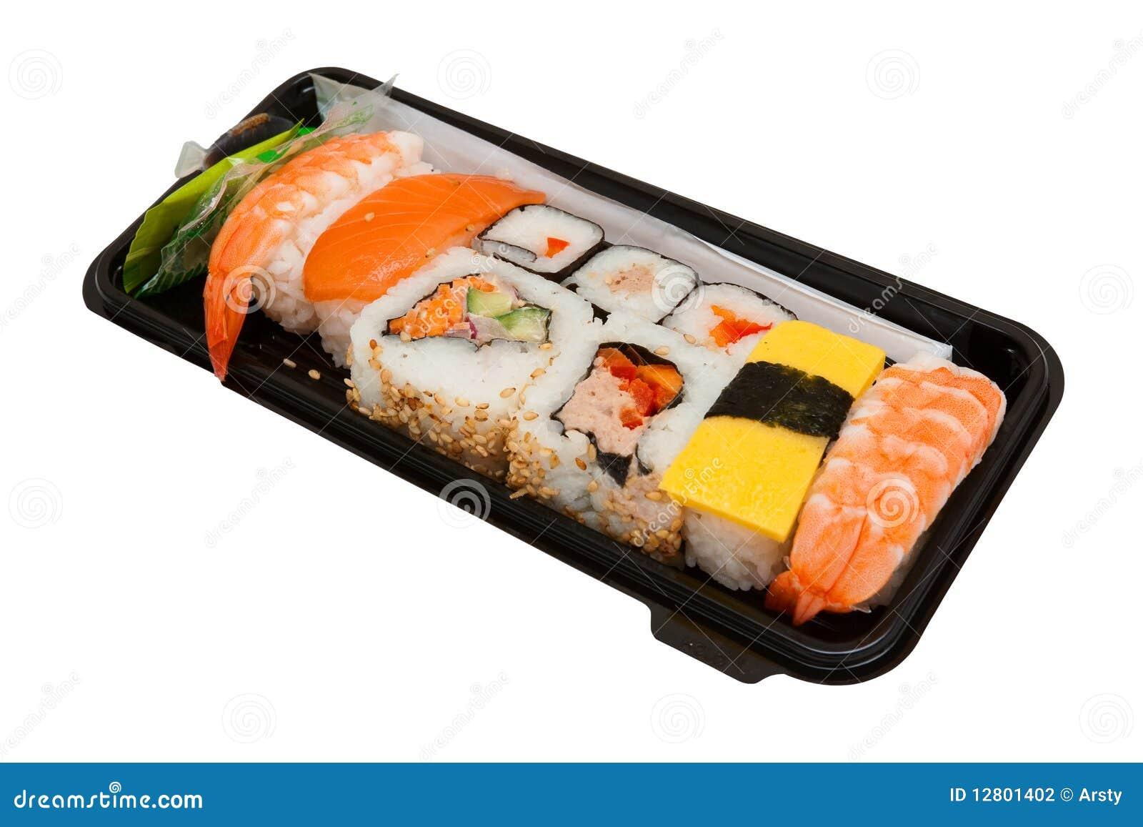 set of sushi stock photography image 12801402. Black Bedroom Furniture Sets. Home Design Ideas