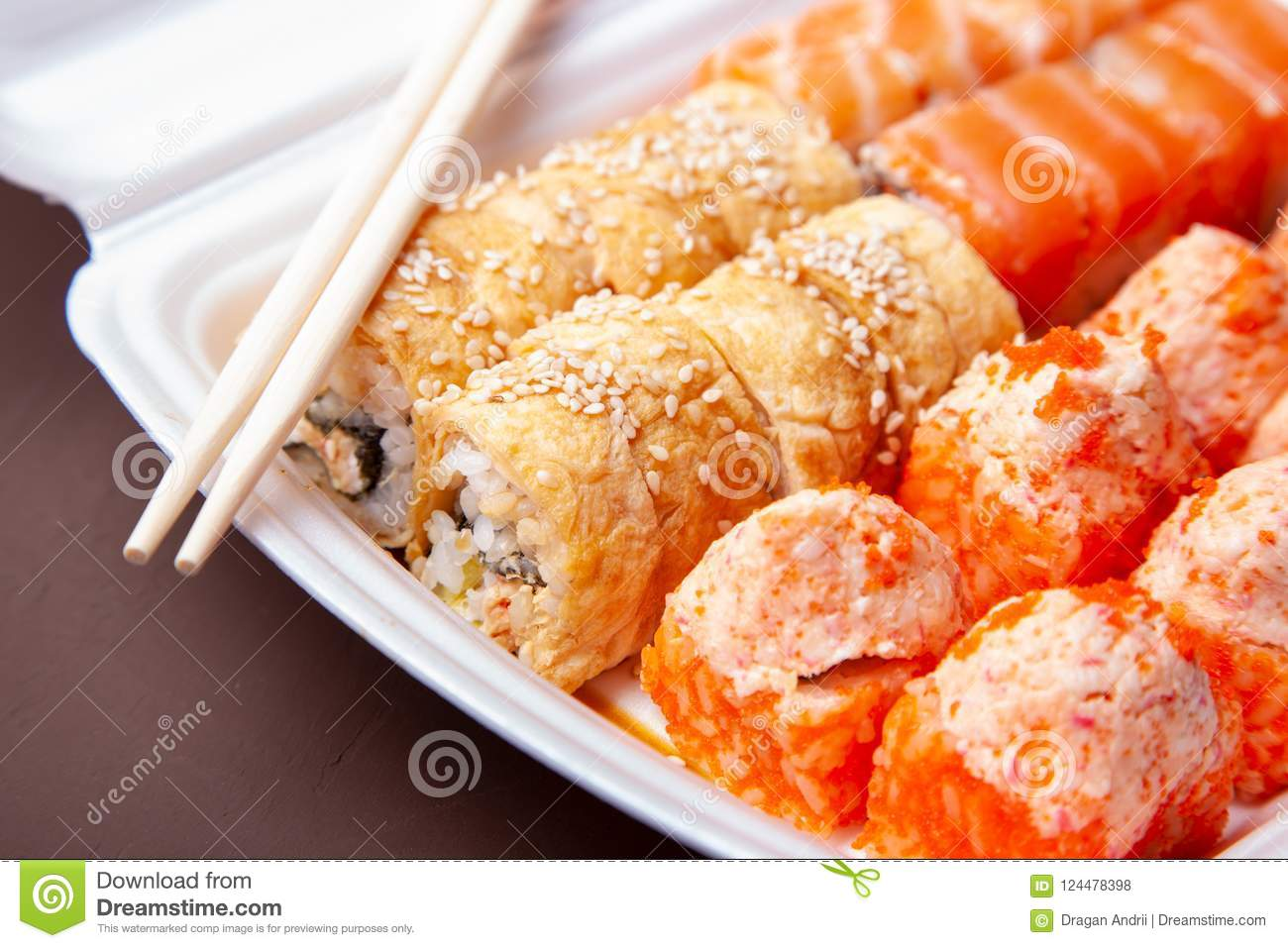 Set Of Sushi Rolls Delivery Of Asian Food Home Sushi Rolls In