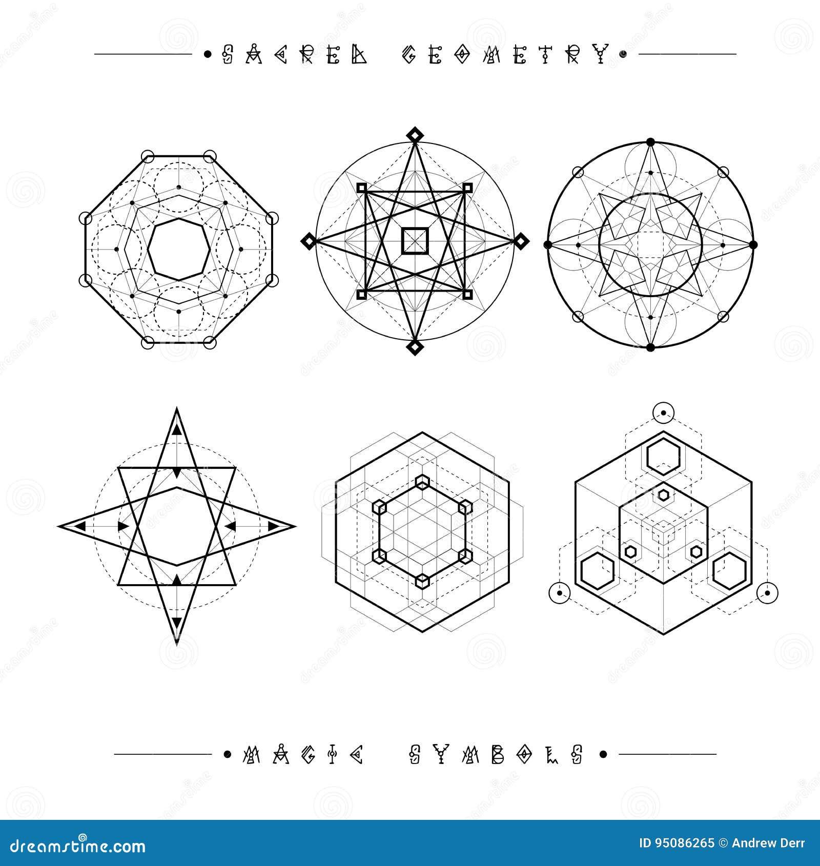 Set Of Symbols And Elements Alchemy Religion Philosophy