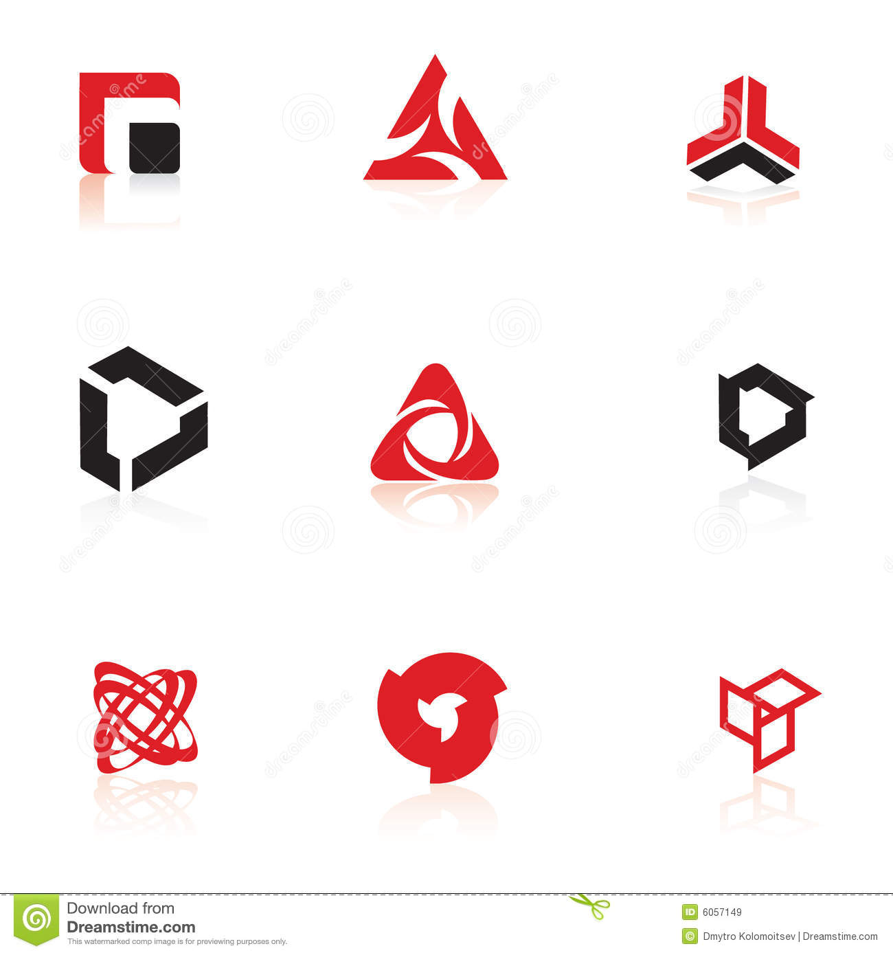 Set Of Symbols Logo Elements Illustration 6057149 Megapixl