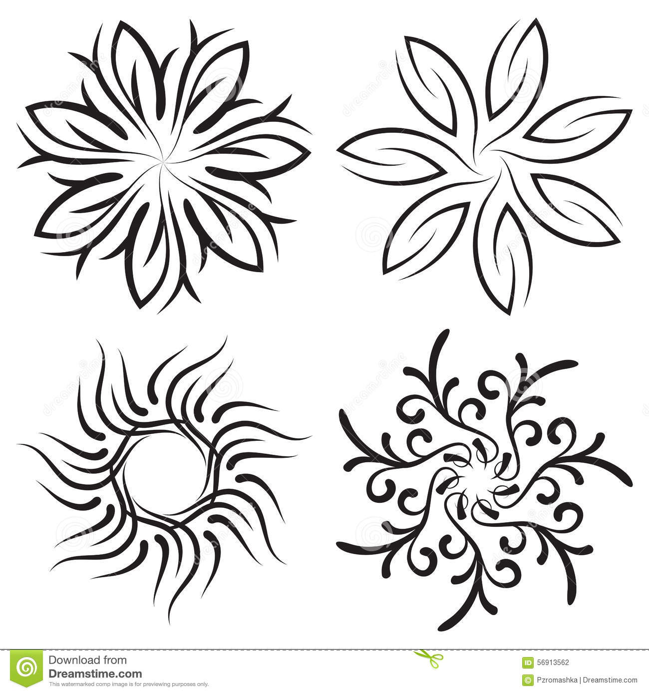 pics for gt symmetrical flower designs