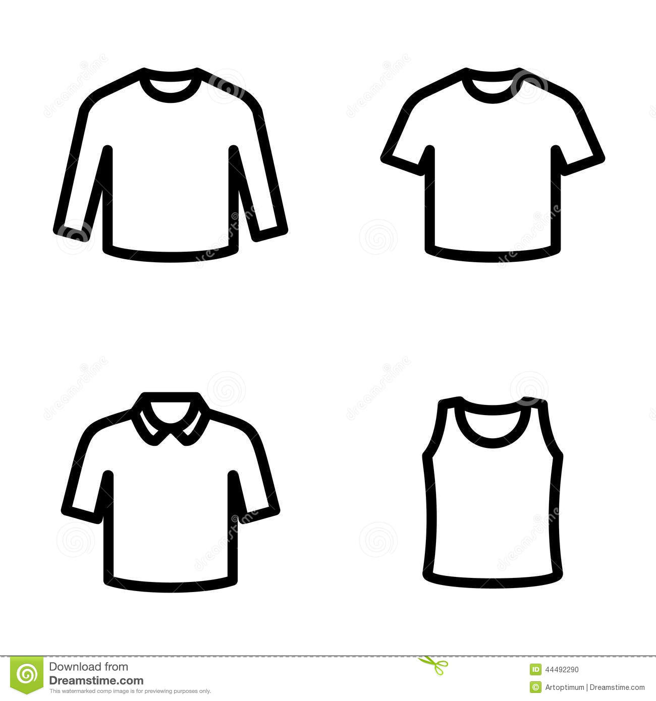 set of t shirts icon vector stock vector illustration of female posing 44492290 dreamstime com