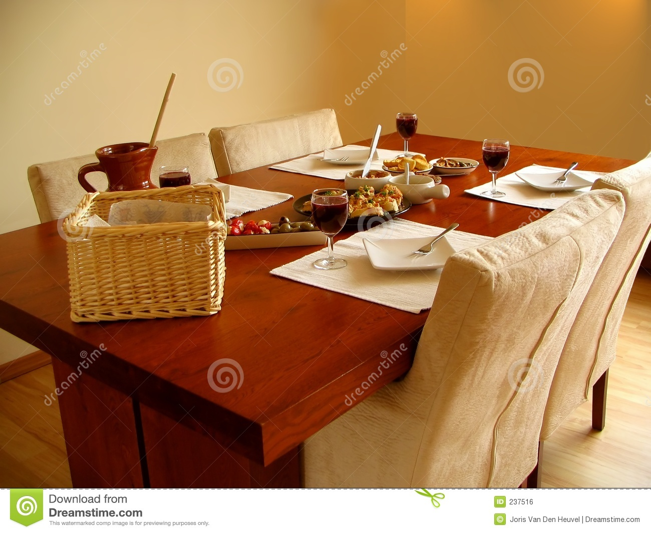 Set table with Spanish tapas served & Set Table With Spanish Tapas Served Stock Photo - Image of plate ...