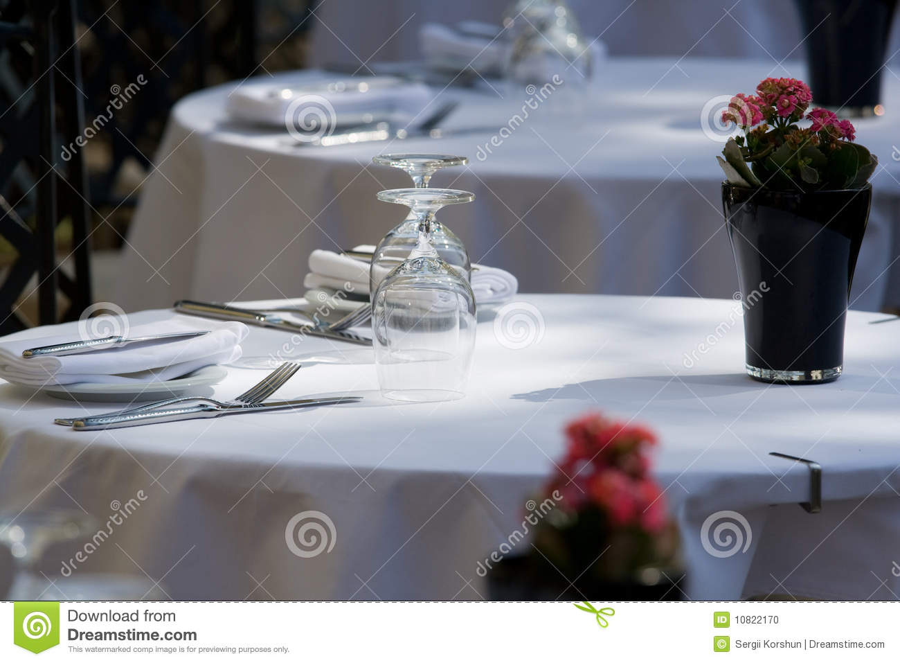 Restaurant table for two - Close Free Restaurant Served Set Table Two