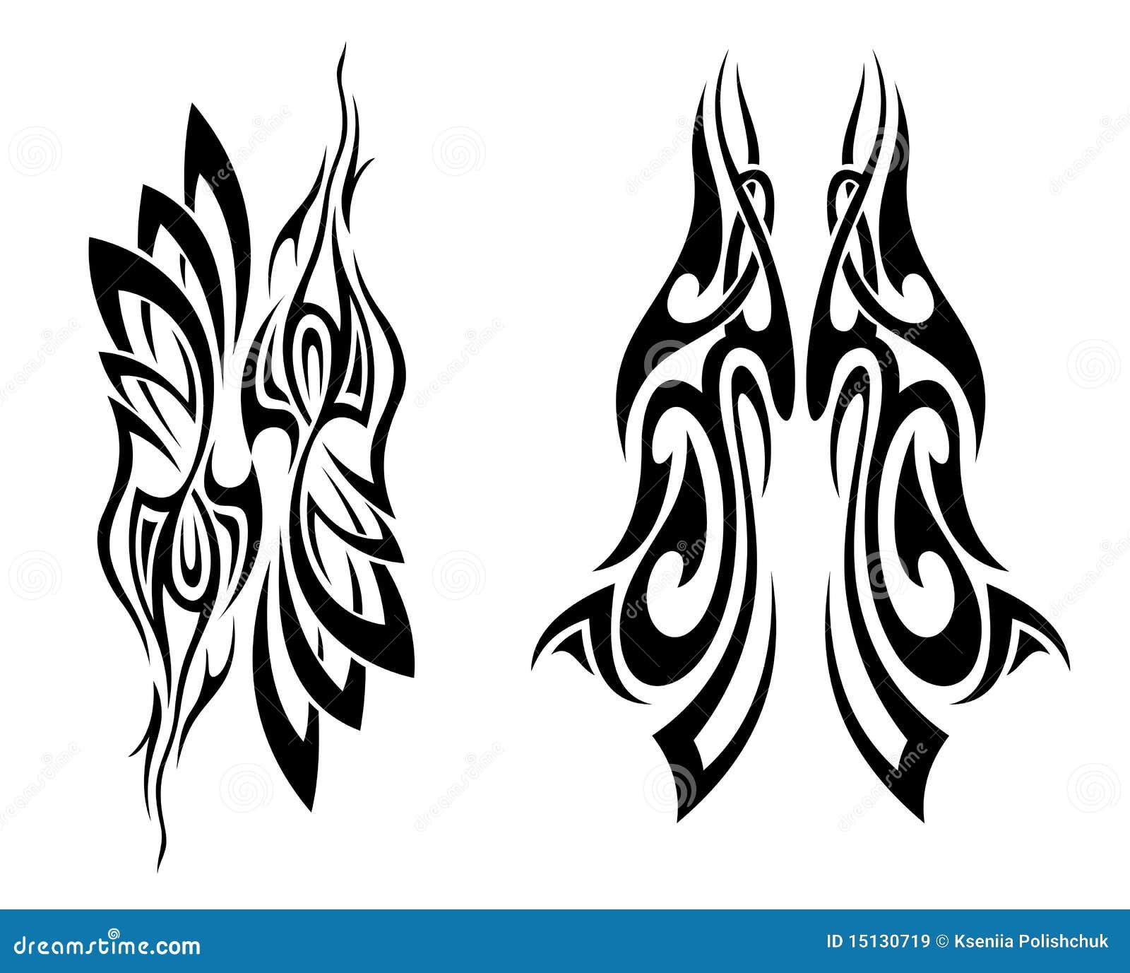 set of tattoo design elements royalty free stock images image 15130719. Black Bedroom Furniture Sets. Home Design Ideas