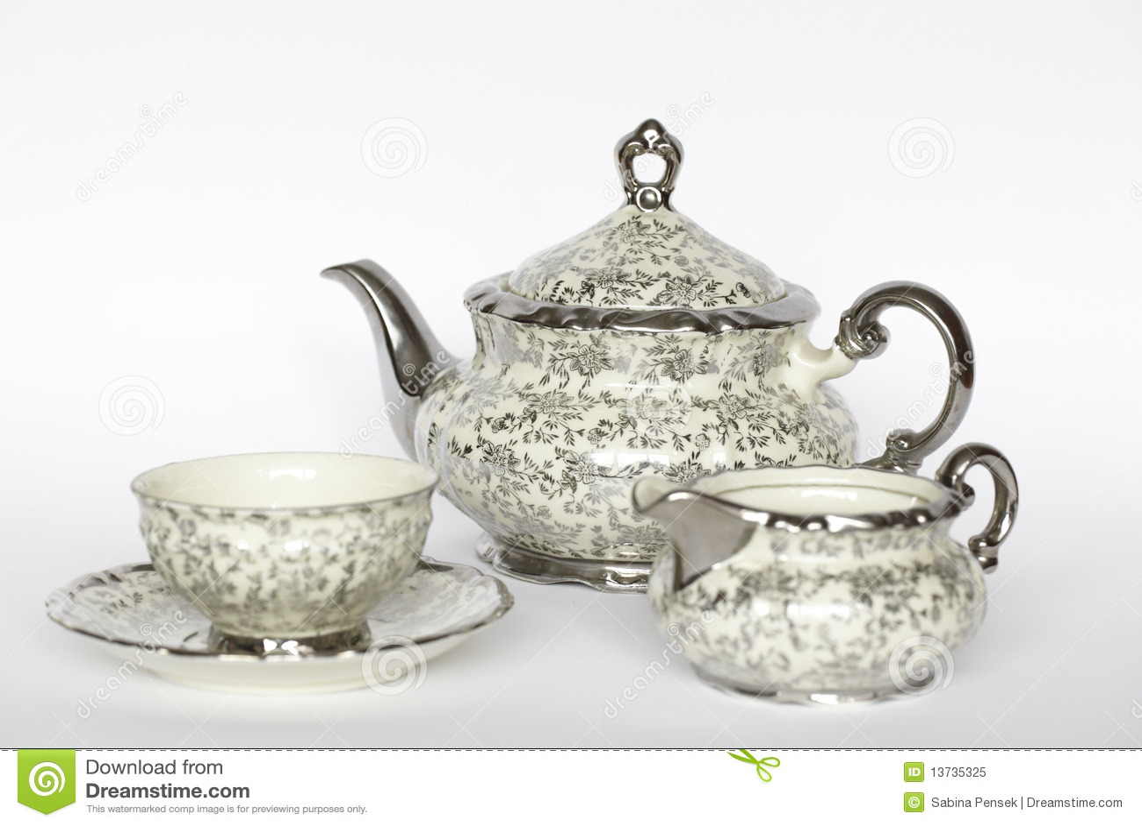 Set tea för porslin