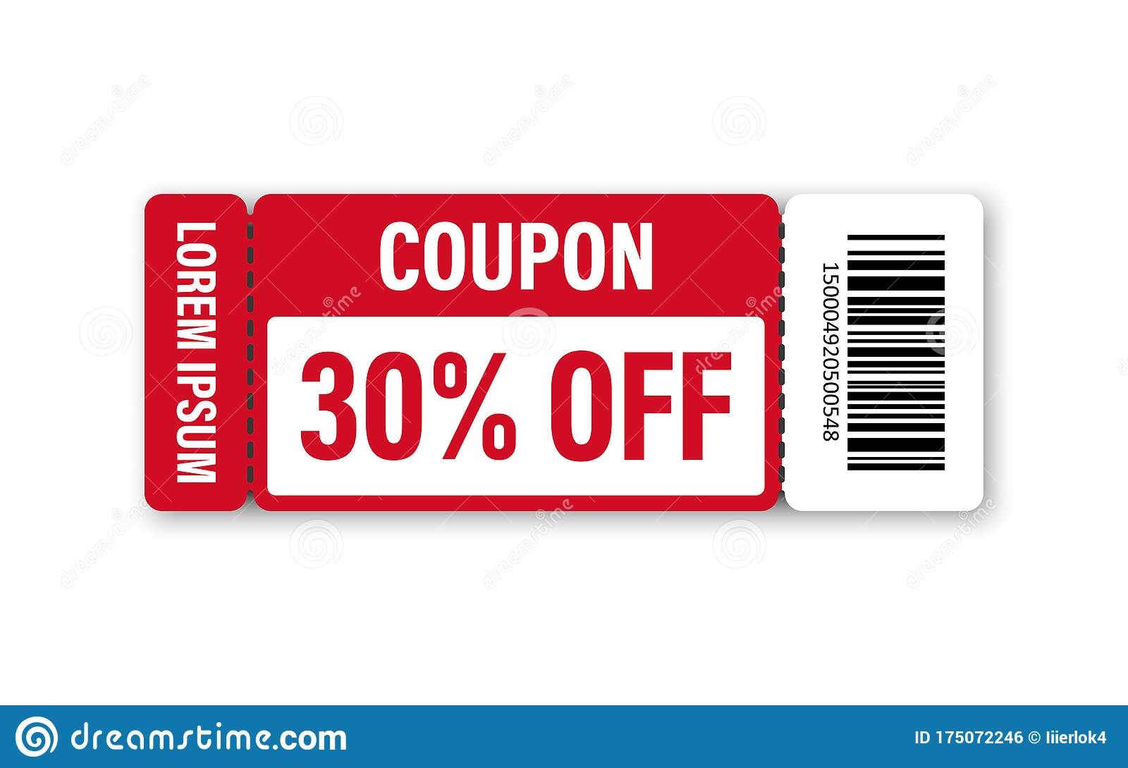 Set Of Template Coupon Gift Coupon Element Template Graphics Design Voucher Promo Code Shopping Marketing Food And Drink Stock Vector Illustration Of Paper Market 175072246