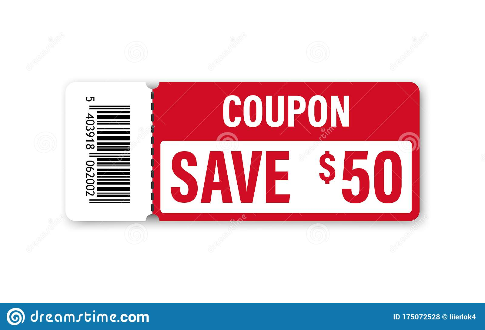 Set Of Template Coupon Gift Coupon Element Template Graphics Design Voucher Promo Code Shopping Marketing Food And Drink Stock Vector Illustration Of Banner Flat 175072528