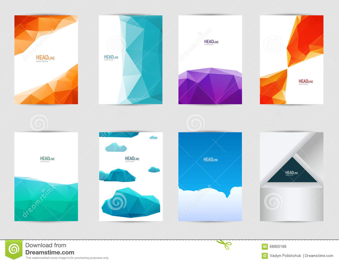 set of templates covers for flyer brochure banner leaflet book a4 size cover layout design abstract presentation templates artistic creative mockup