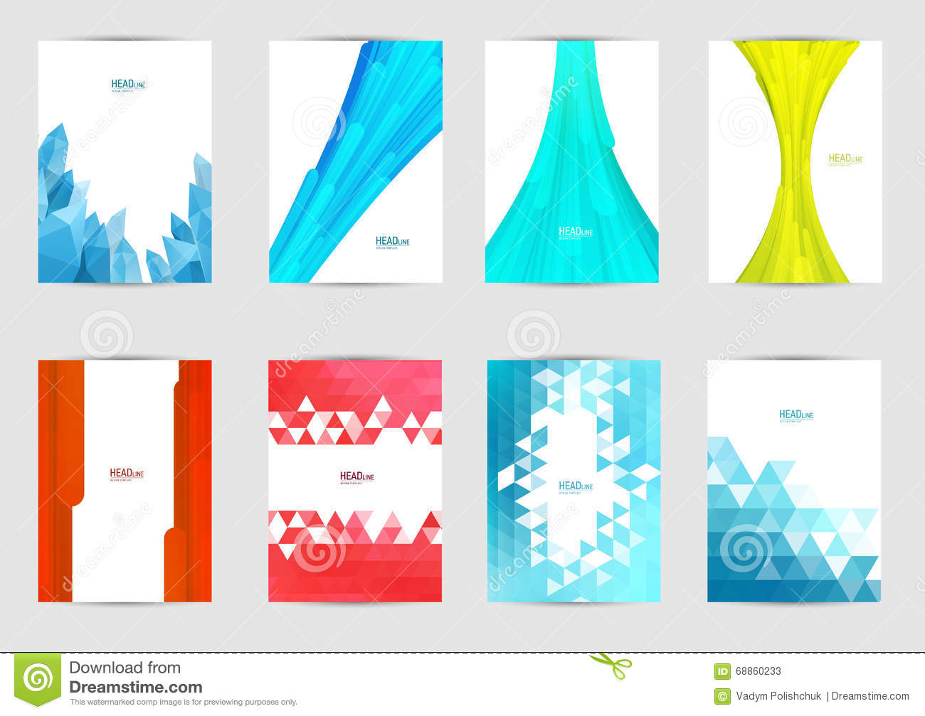 Book Cover Design Logo : Set of templates for covers with place text or logo