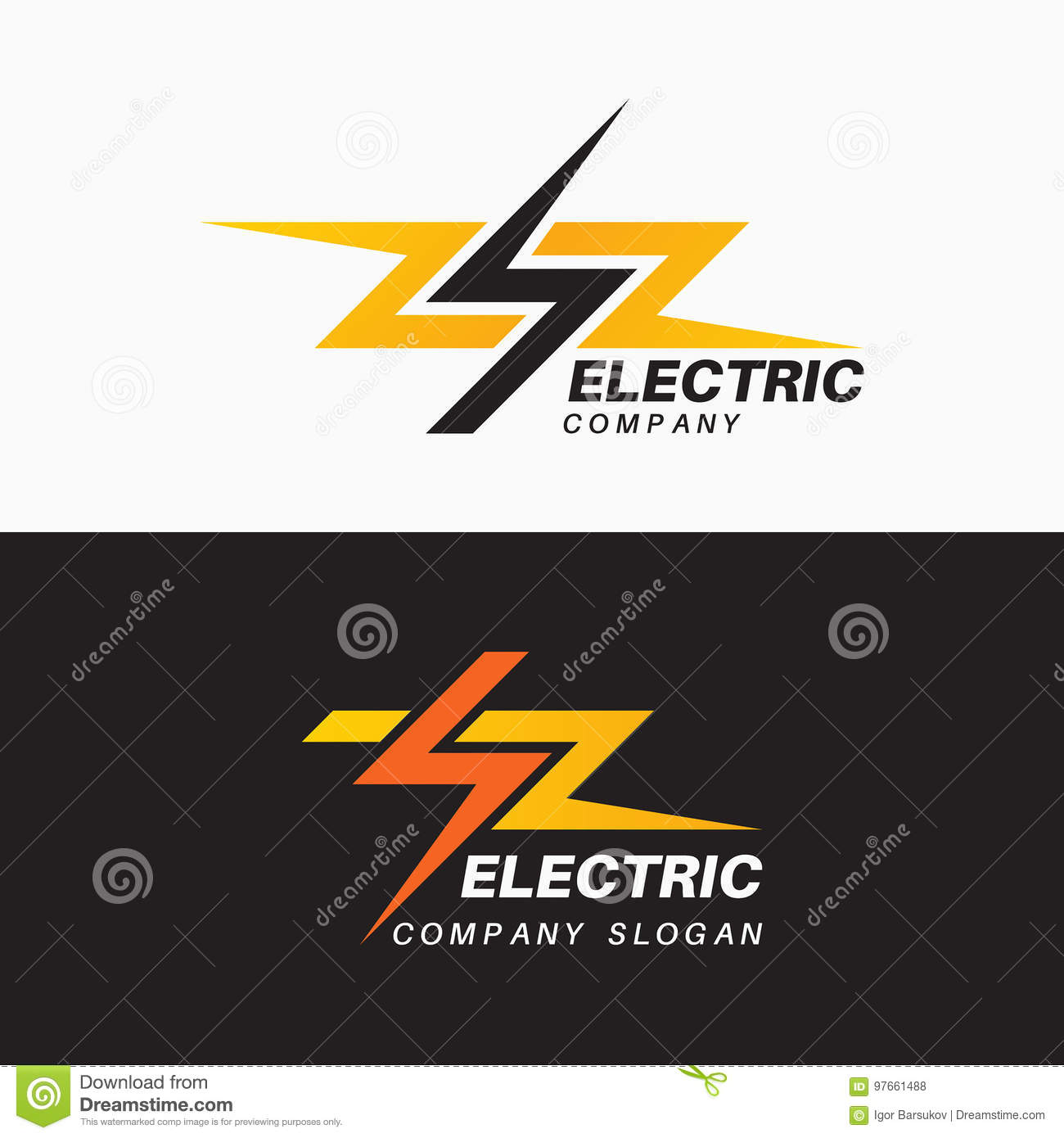 Set Of Templates Electric Logos Royalty Free Vector