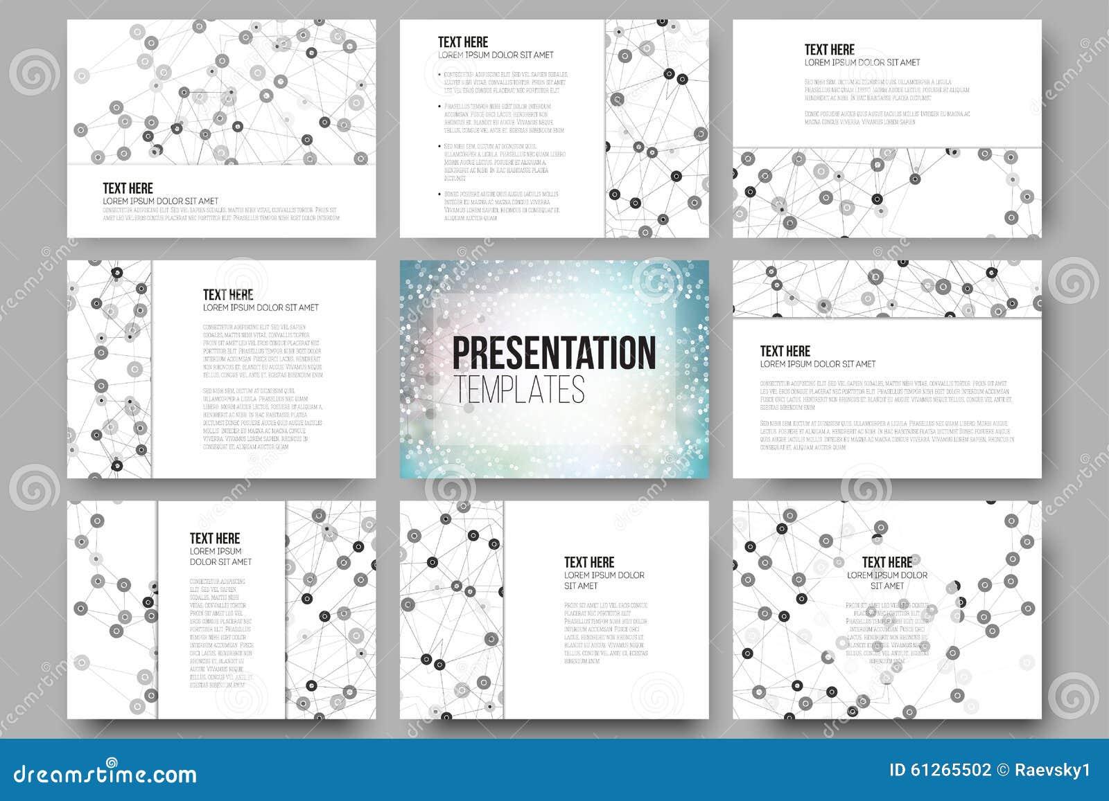 Set of 9 templates for presentation slides