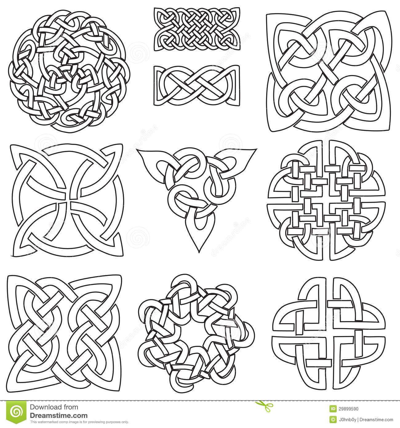 Celtic symbols stock vector illustration of abstract 29899590 celtic symbols buycottarizona Image collections