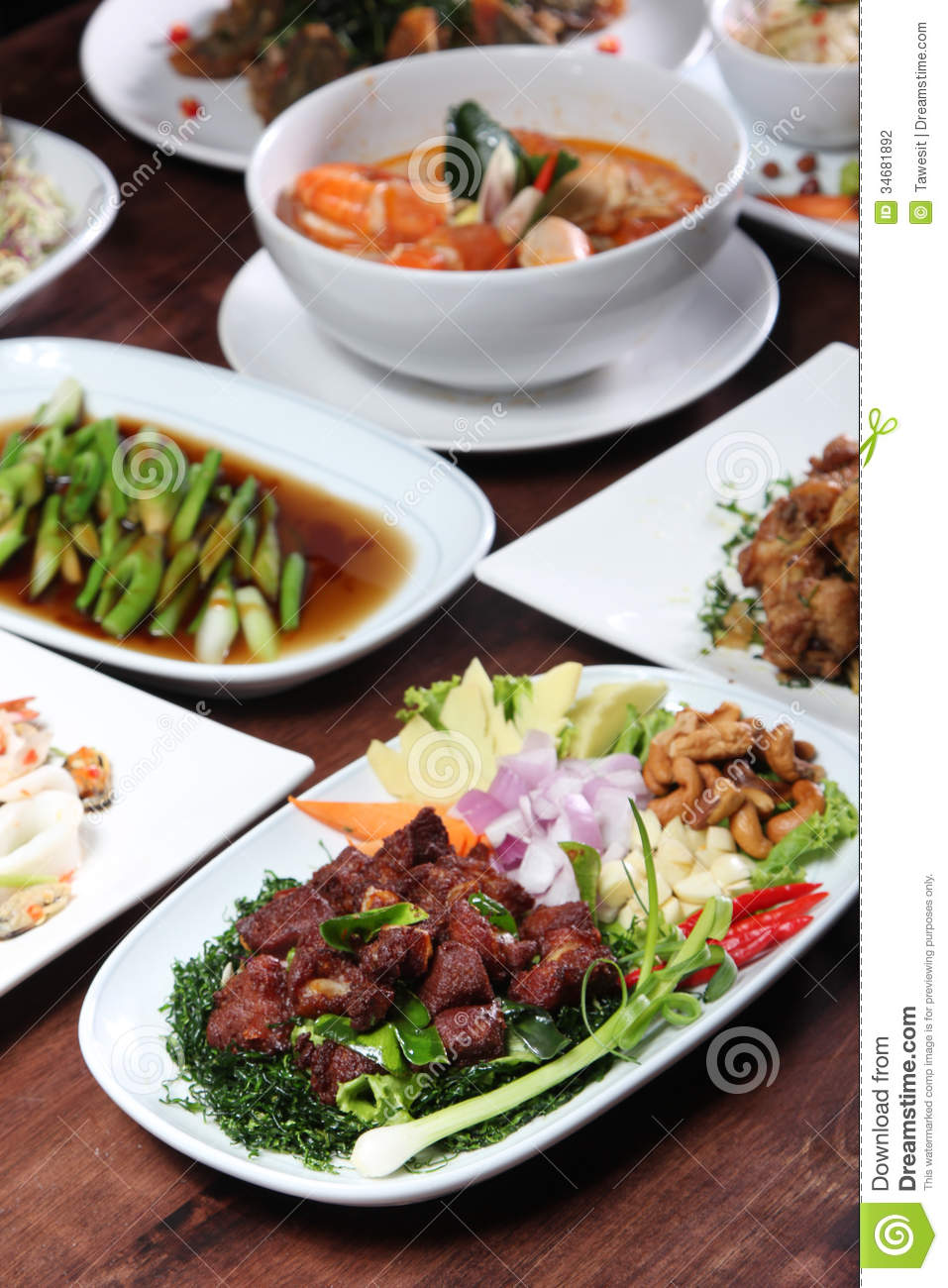 Set of thai food menu stock photo image of meat gourmet for About thai cuisine