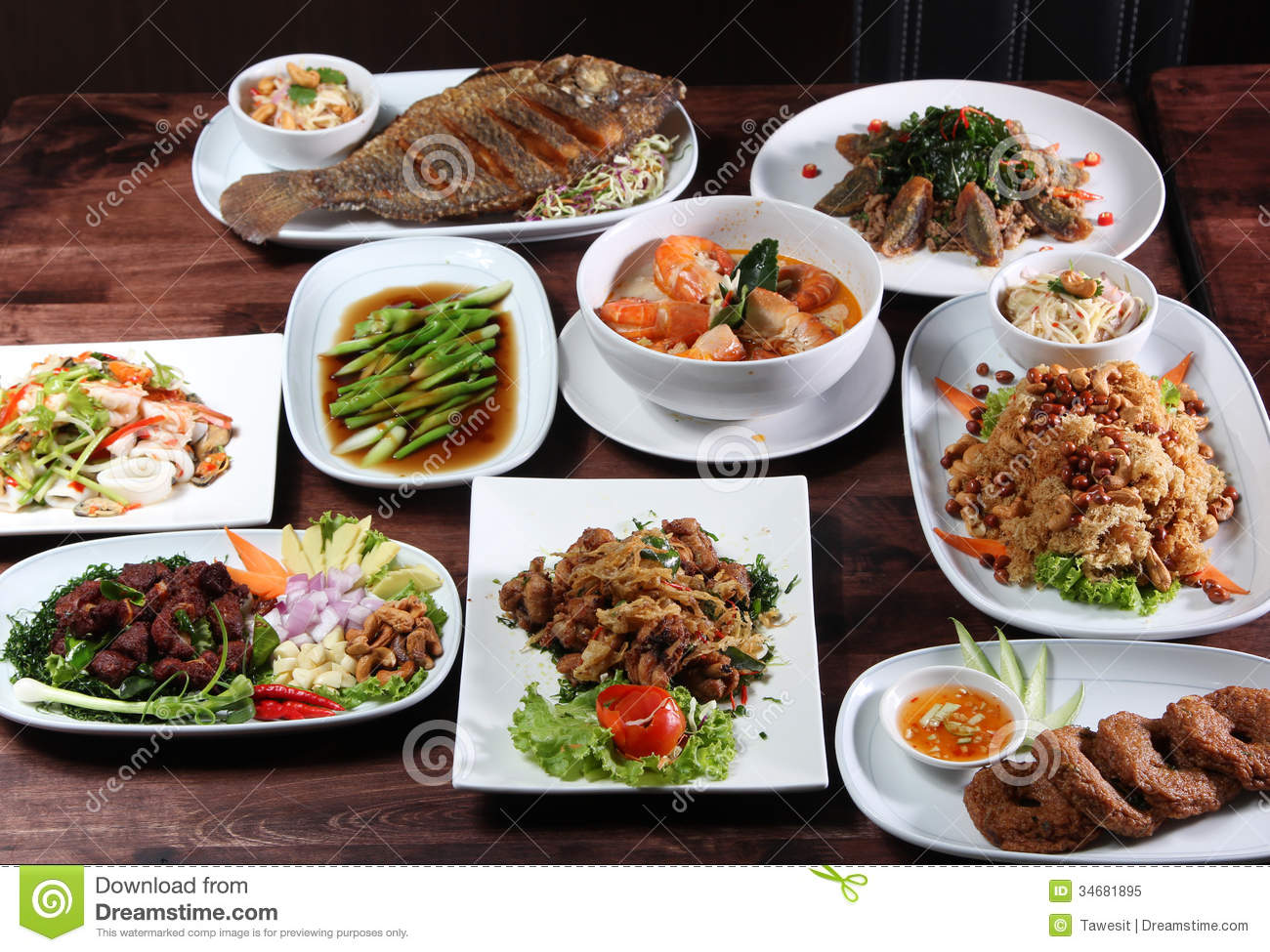 Set of thai food menu royalty free stock photo image for Cuisine restaurant