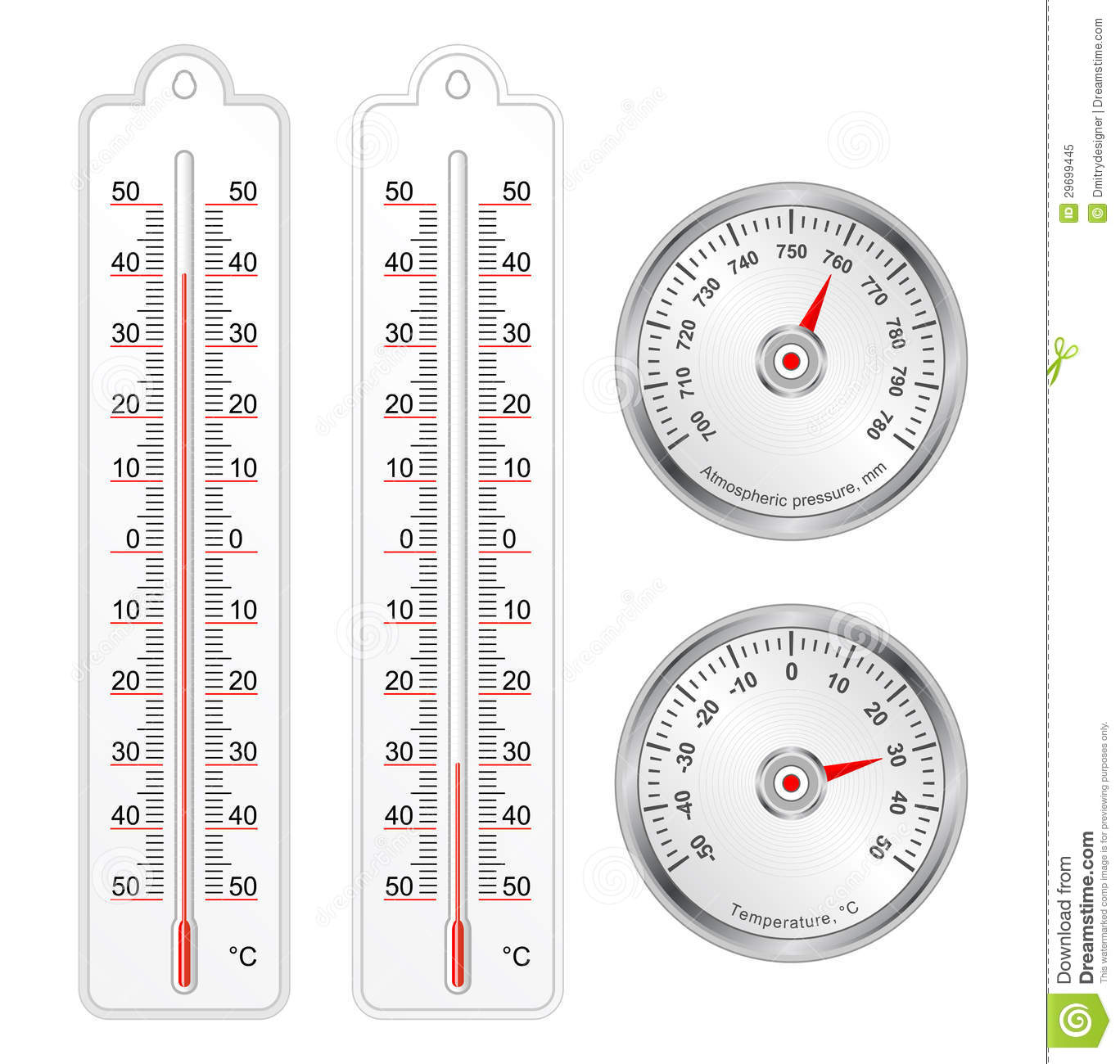 how to read a barometer thermometer