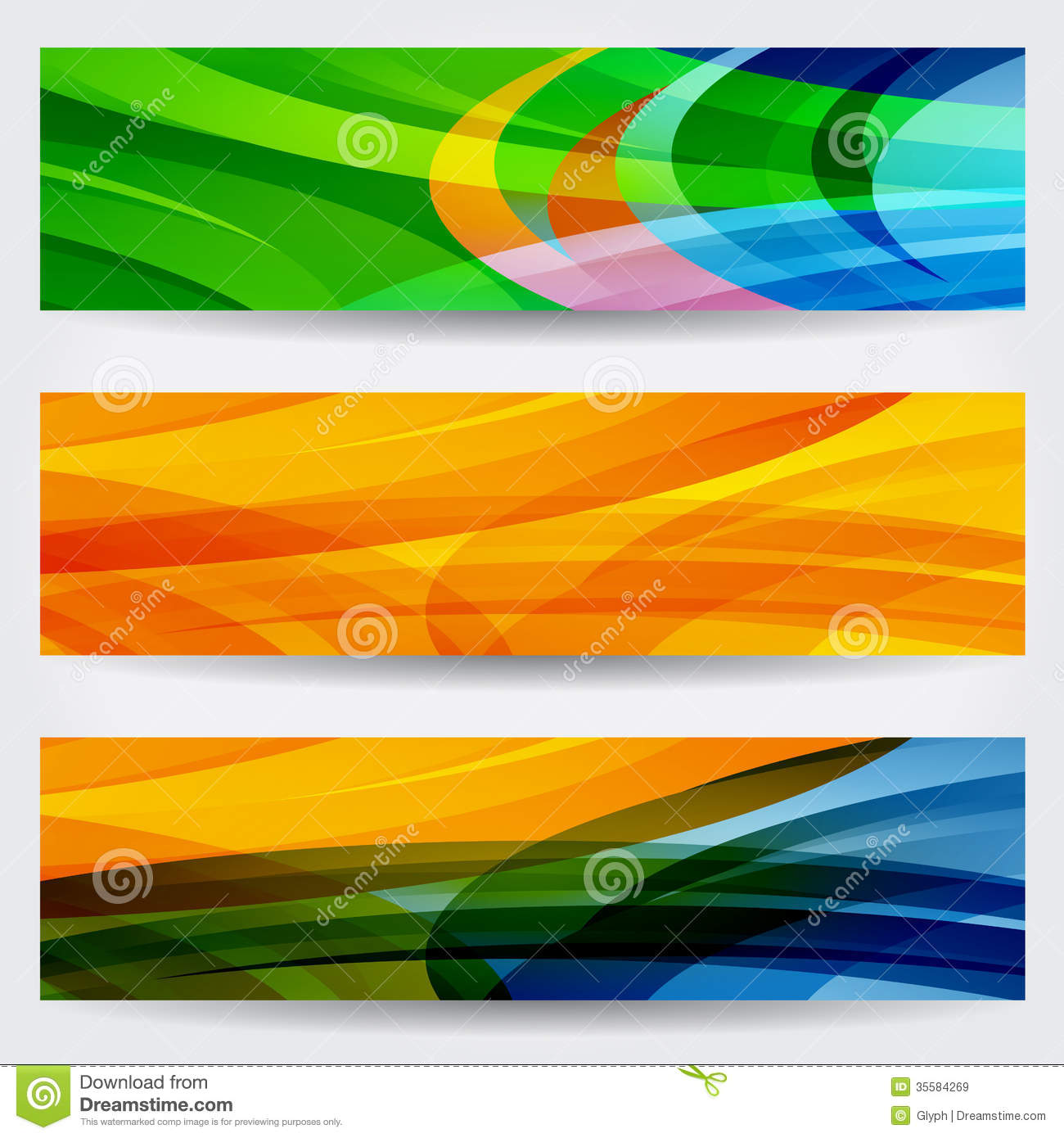 ... Colorful Web Banners Royalty Free Stock Images - Image: 35584269: www.dreamstime.com/royalty-free-stock-images-set-three-abstract...