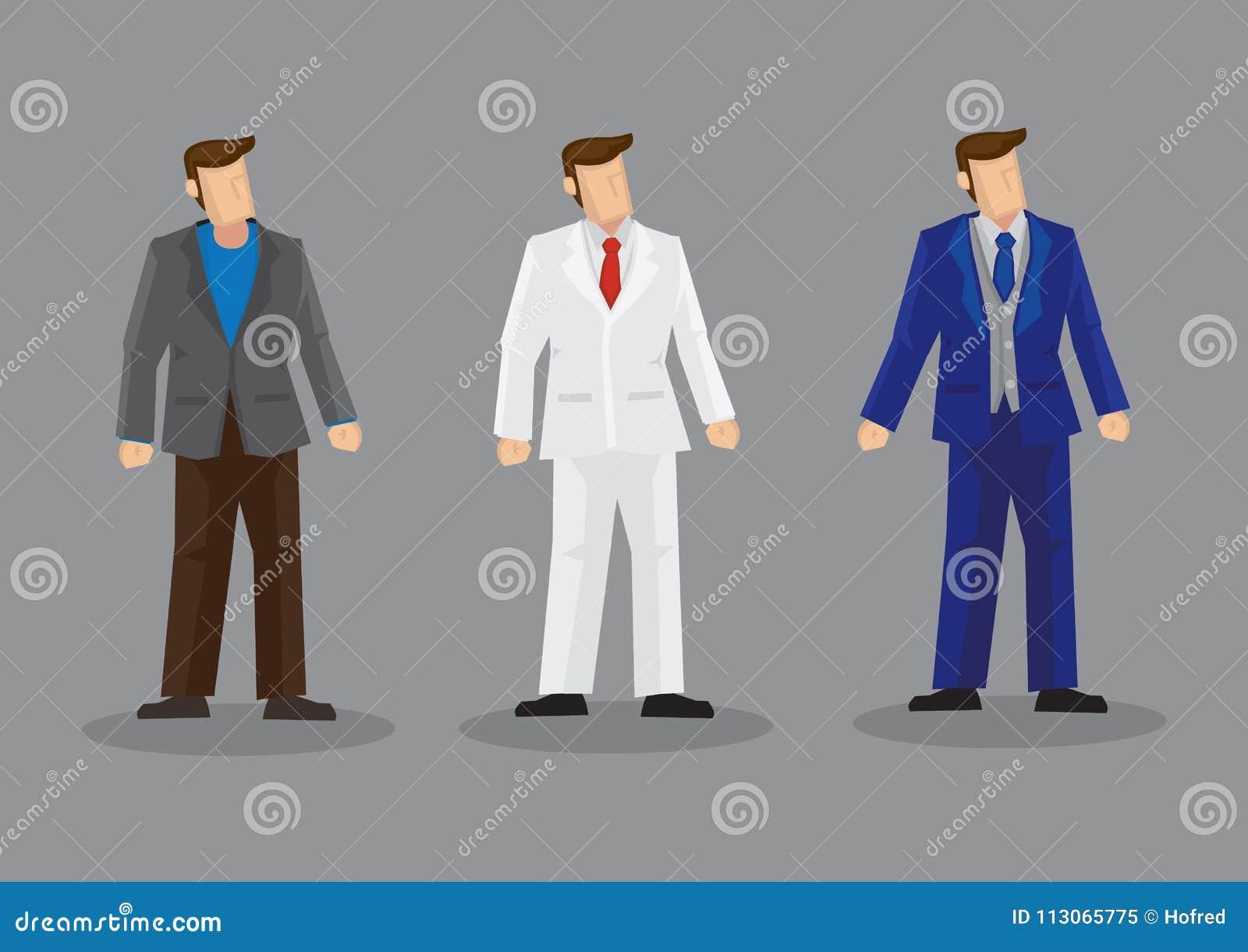 2646e4d5 Men Suit Fashion Vector Character Illustration Stock Vector ...