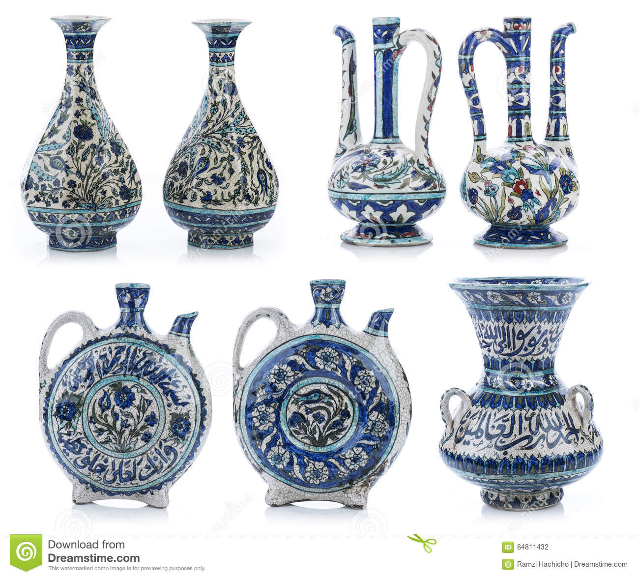 Set of three old vintage vases with islamic quotes ornaments royalty free stock photo reviewsmspy