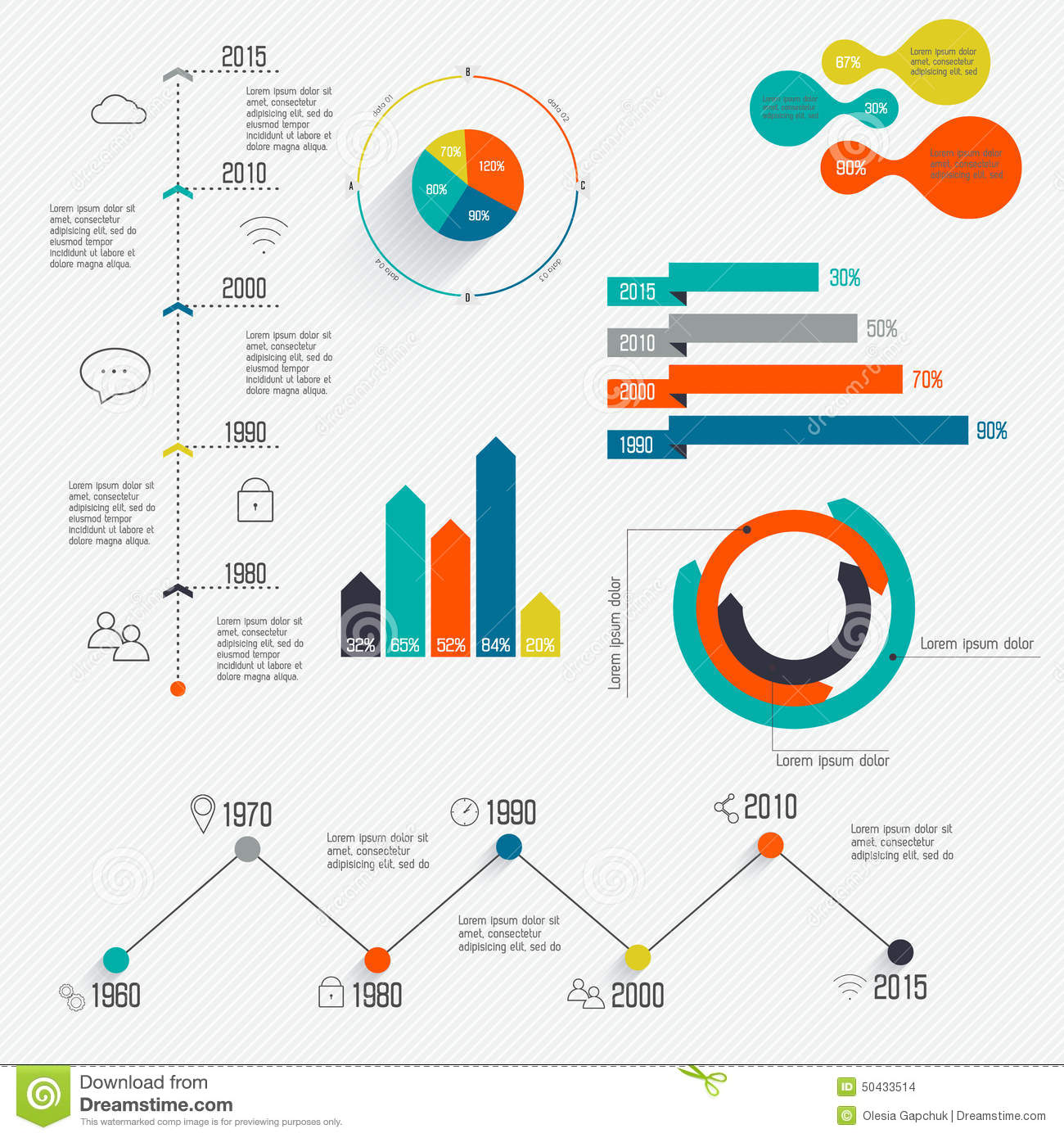 Set Of Timeline Infographic Design Templates  Stock Vector