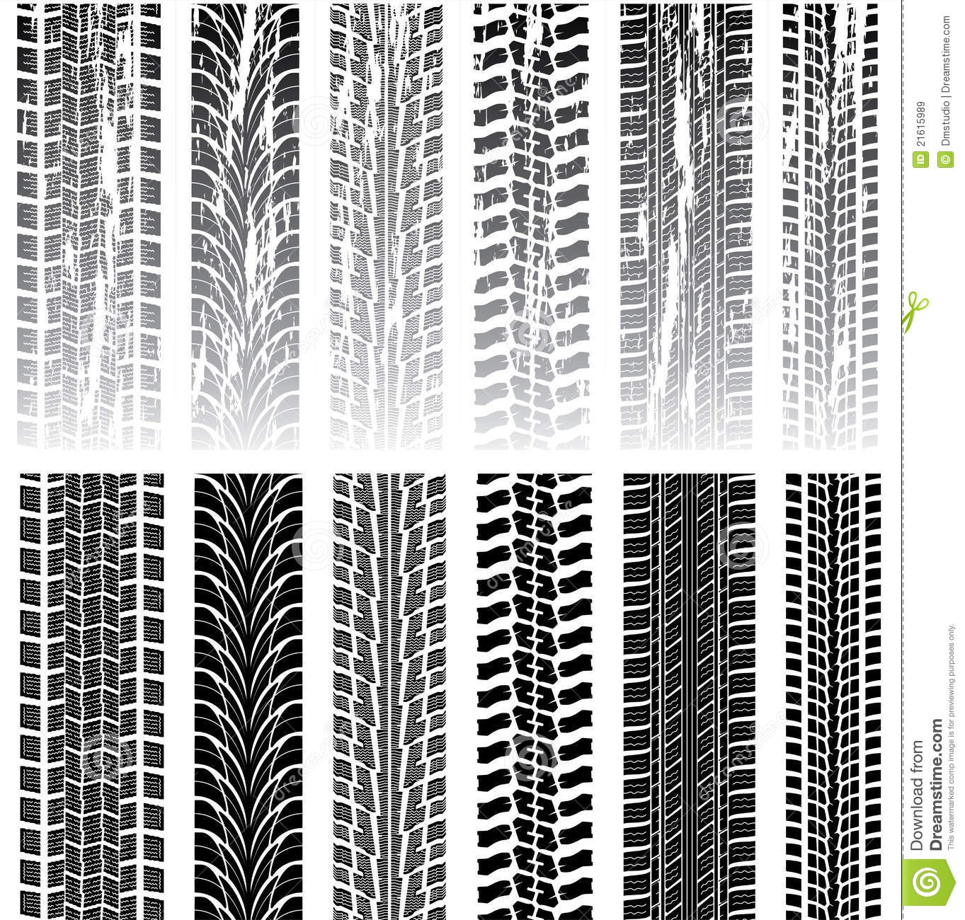 Set Of Tire Prints Royalty Free Stock Images - Image: 21615989