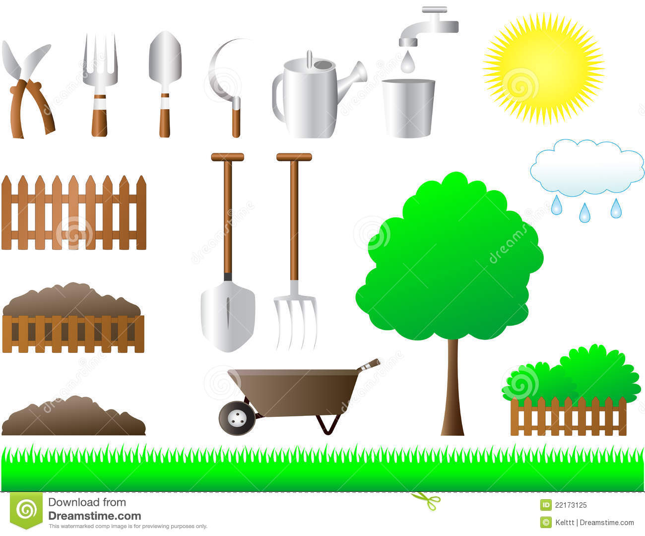 Set of tools for house and garden royalty free stock photo for Garden house for tools
