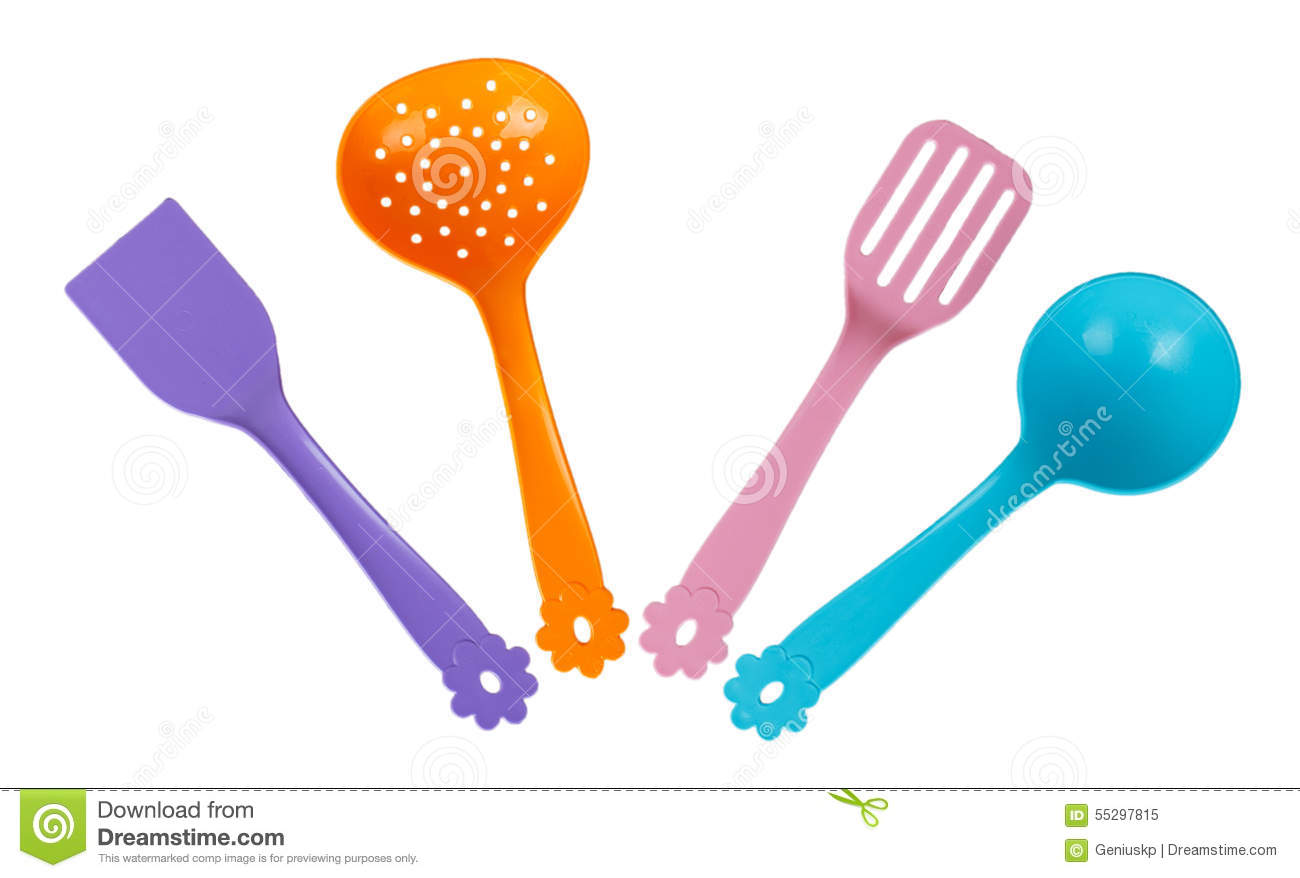 Set Of Toy Kitchen Utensils Stock Image - Image of equipment ...