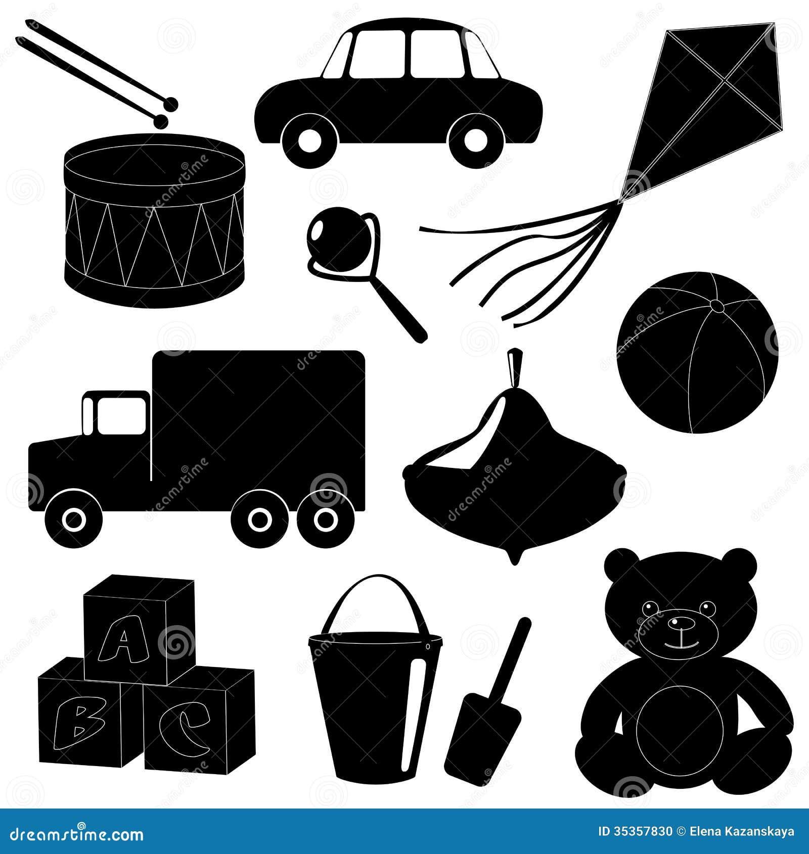 Set Of Toys Silhouettes 1 Stock Photo Image 35357830
