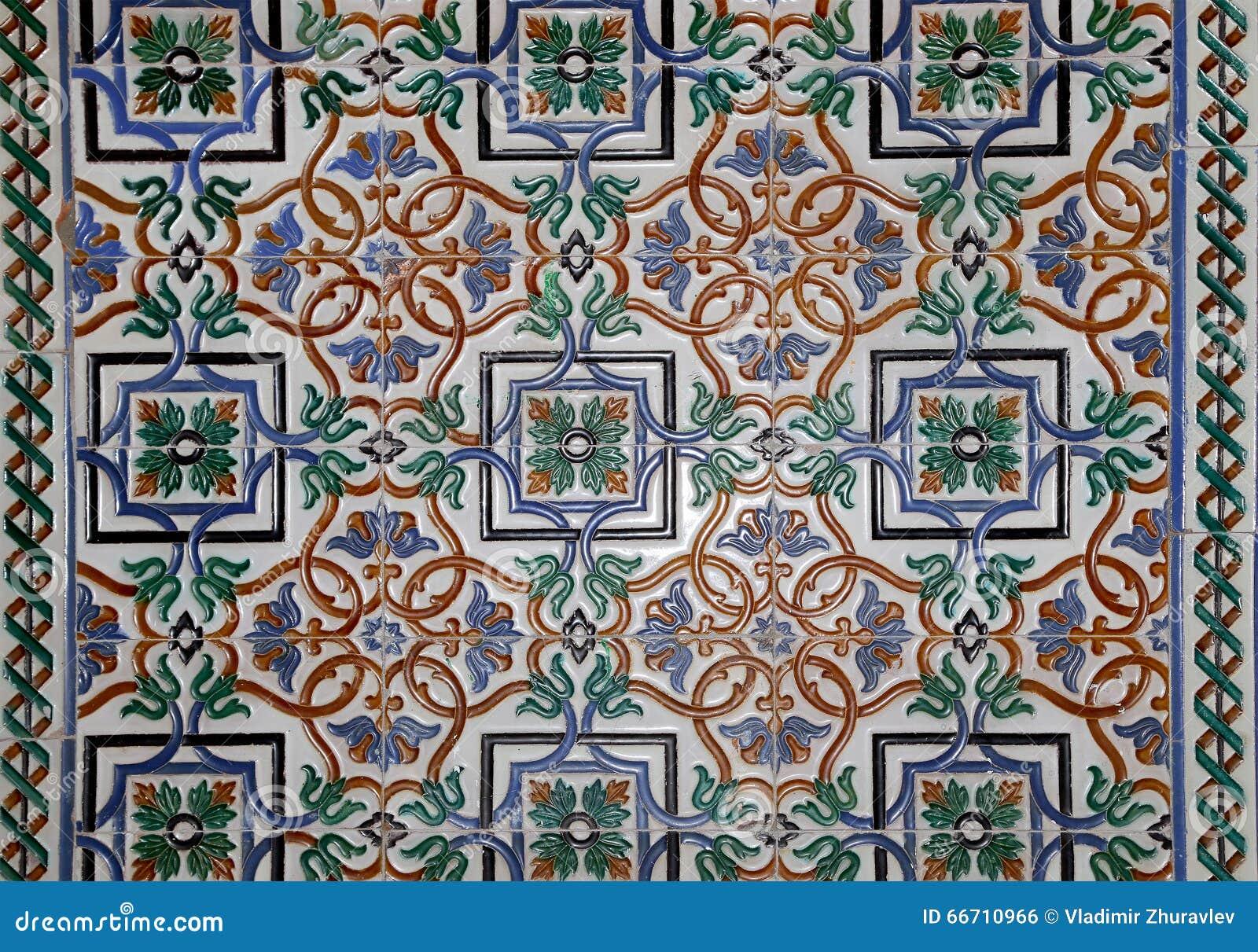 Set Of Traditional Islamic (Moorish) Ceramic Tiles, Plaza De Espana ...