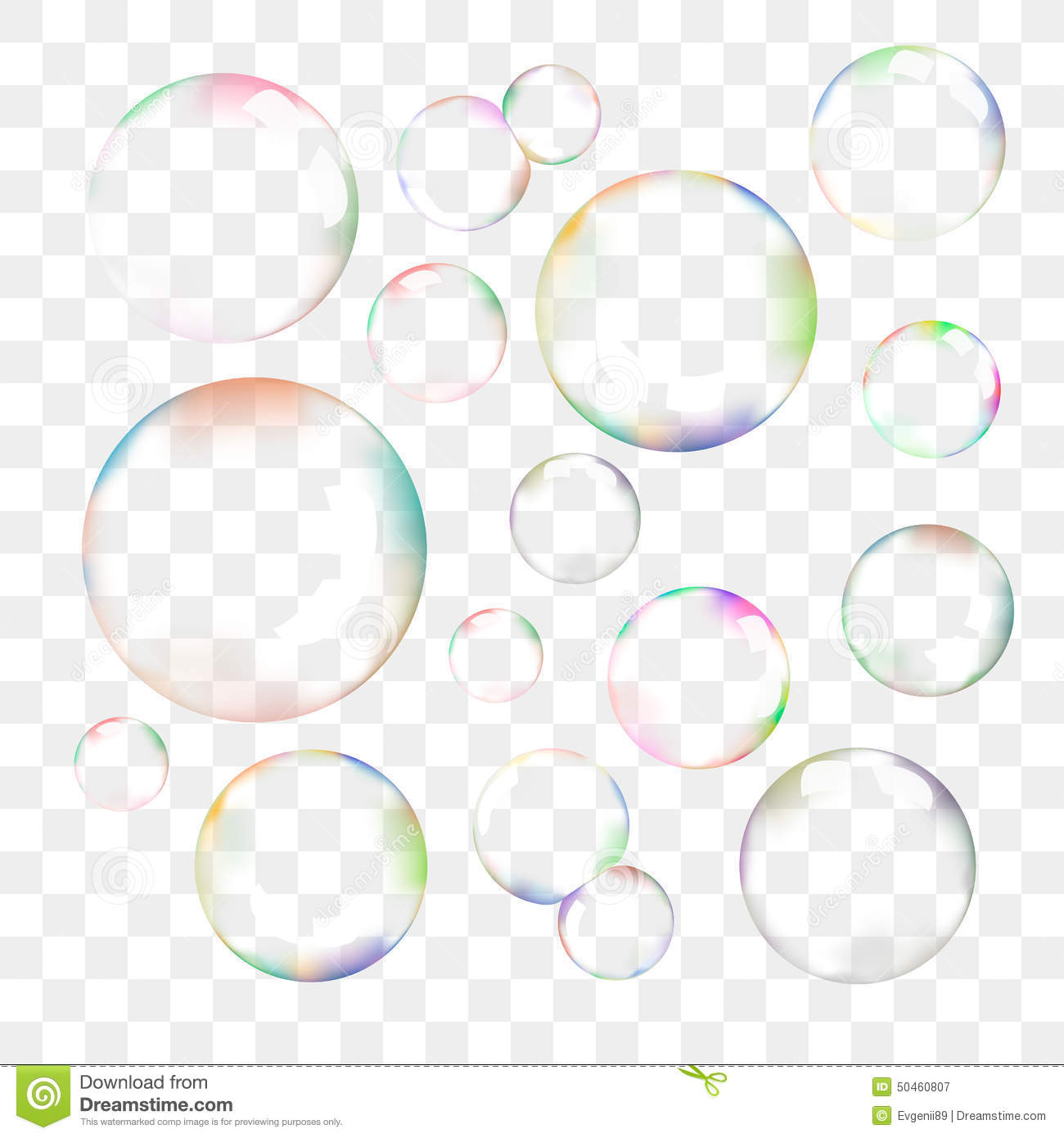 Set Of Transparent Vector Soap Bubbles Stock Vector ...