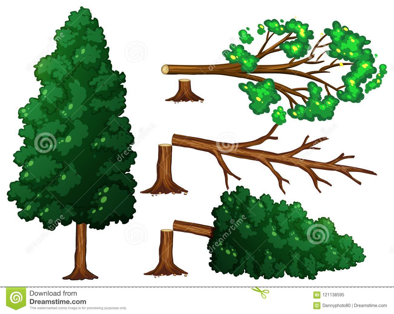 A Set of Tree Being Cut